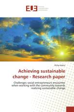 Achieving sustainable change - Research paper