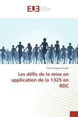 Les défis de la mise en application de la 1325 en RDC