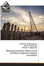 Reducing dynamic effect of pile driving on adjacent shallow foundation