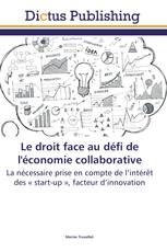Le droit face au défi de l'économie collaborative