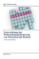 Unterstützung der Wahrnehmungsförderung von Menschen mit Demenz