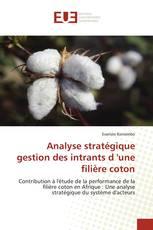Analyse stratégique gestion des intrants d 'une filière coton