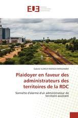 Plaidoyer en faveur des administrateurs des territoires de la RDC