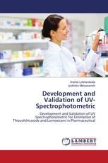 Development and Validation of UV-Spectrophotometric
