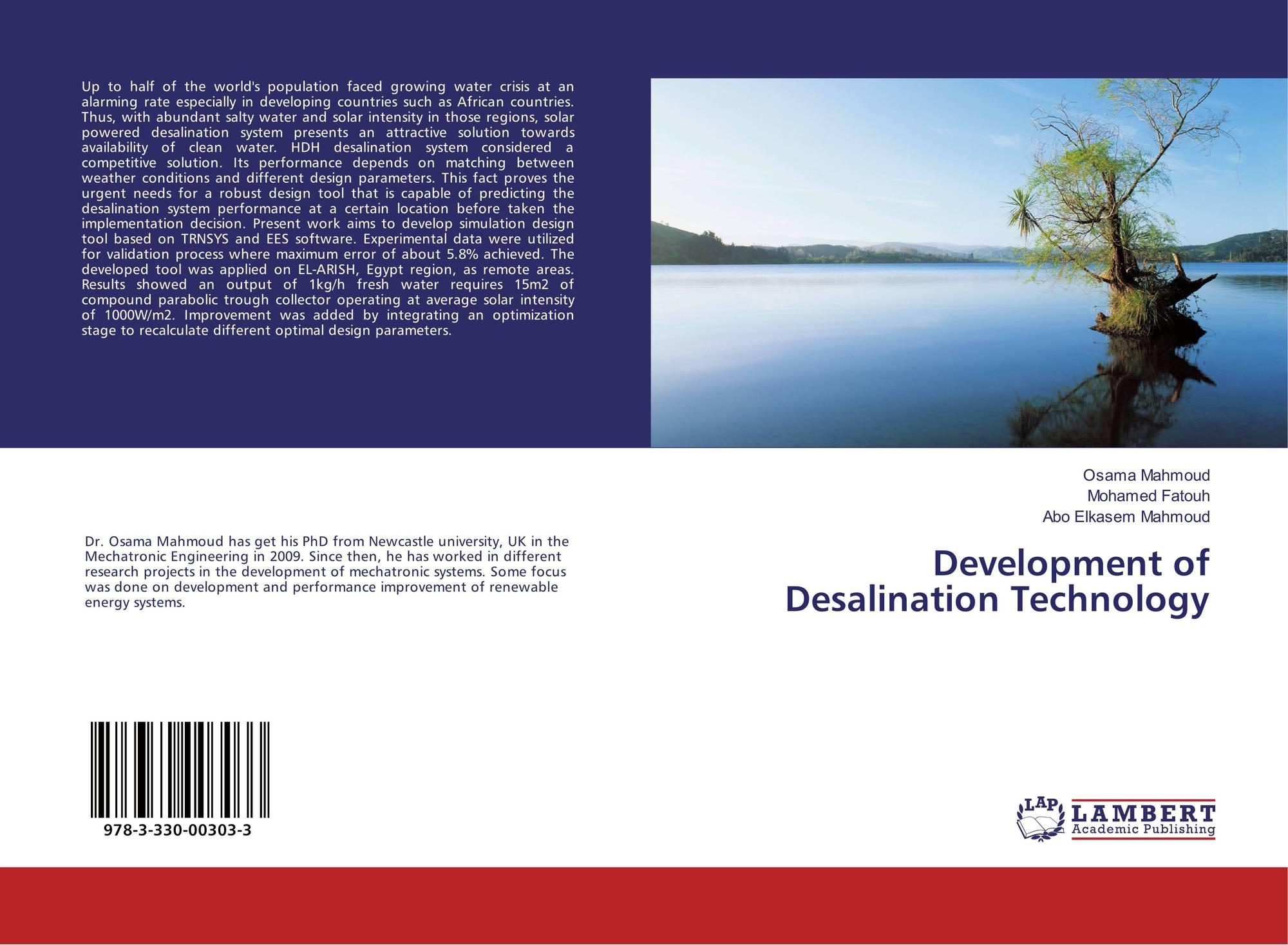 Development of Desalination Technology, 978-3-330-00303-3