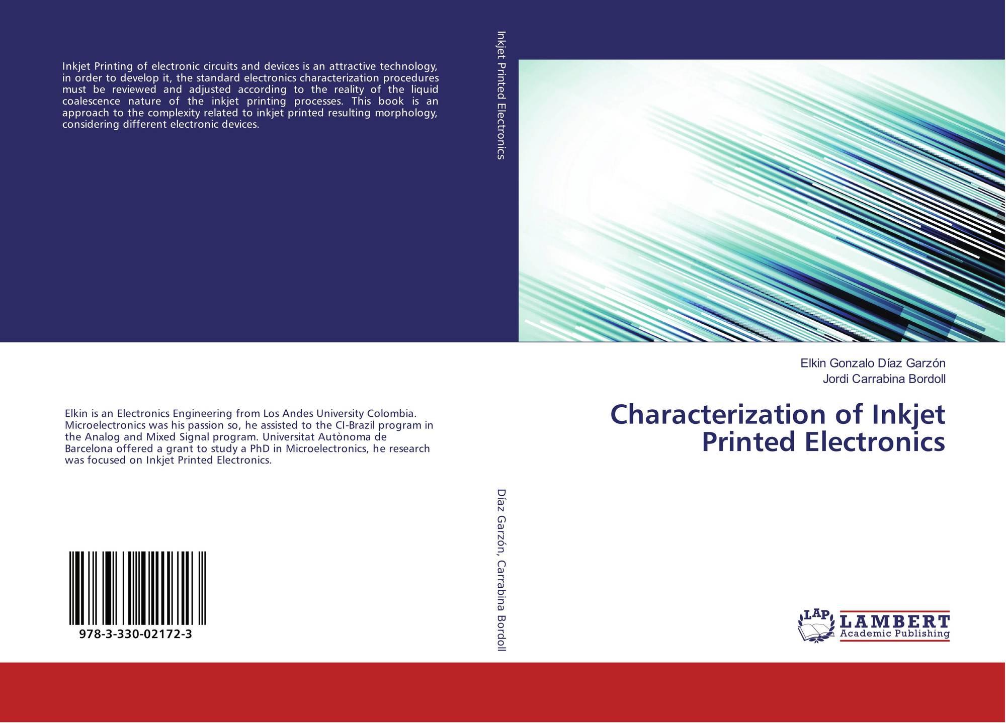 Characterization Of Inkjet Printed Electronics 978 3 330 02172 Circuits Book 9783330021723