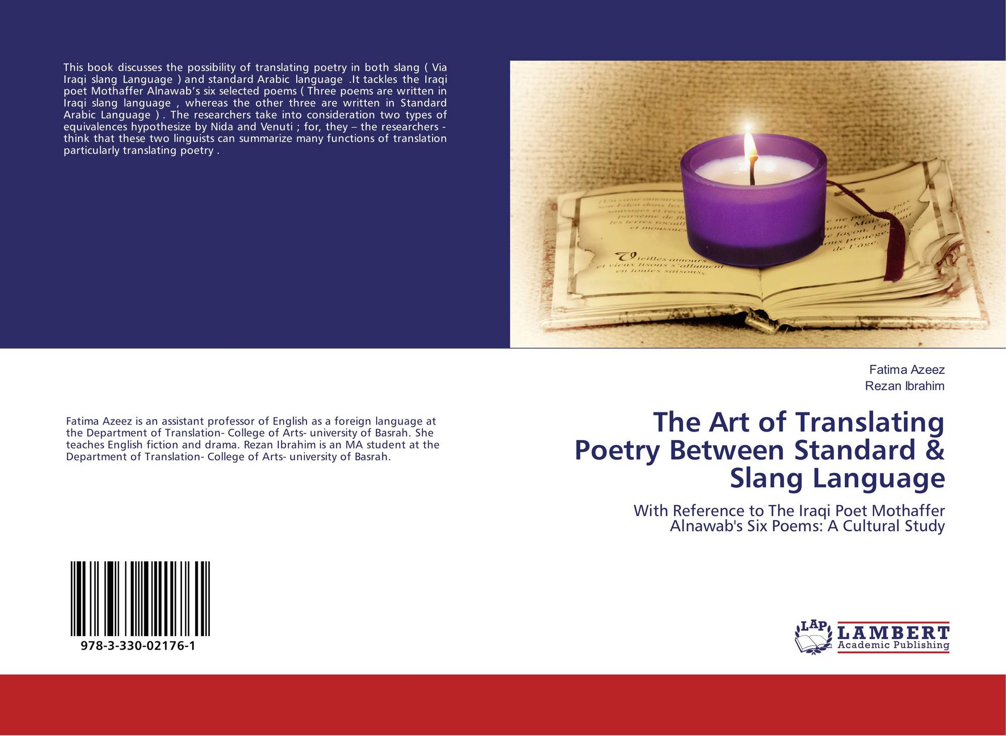 Bookcover of The Art of Translating Poetry Between Standard & Slang  Language. 9783330021761