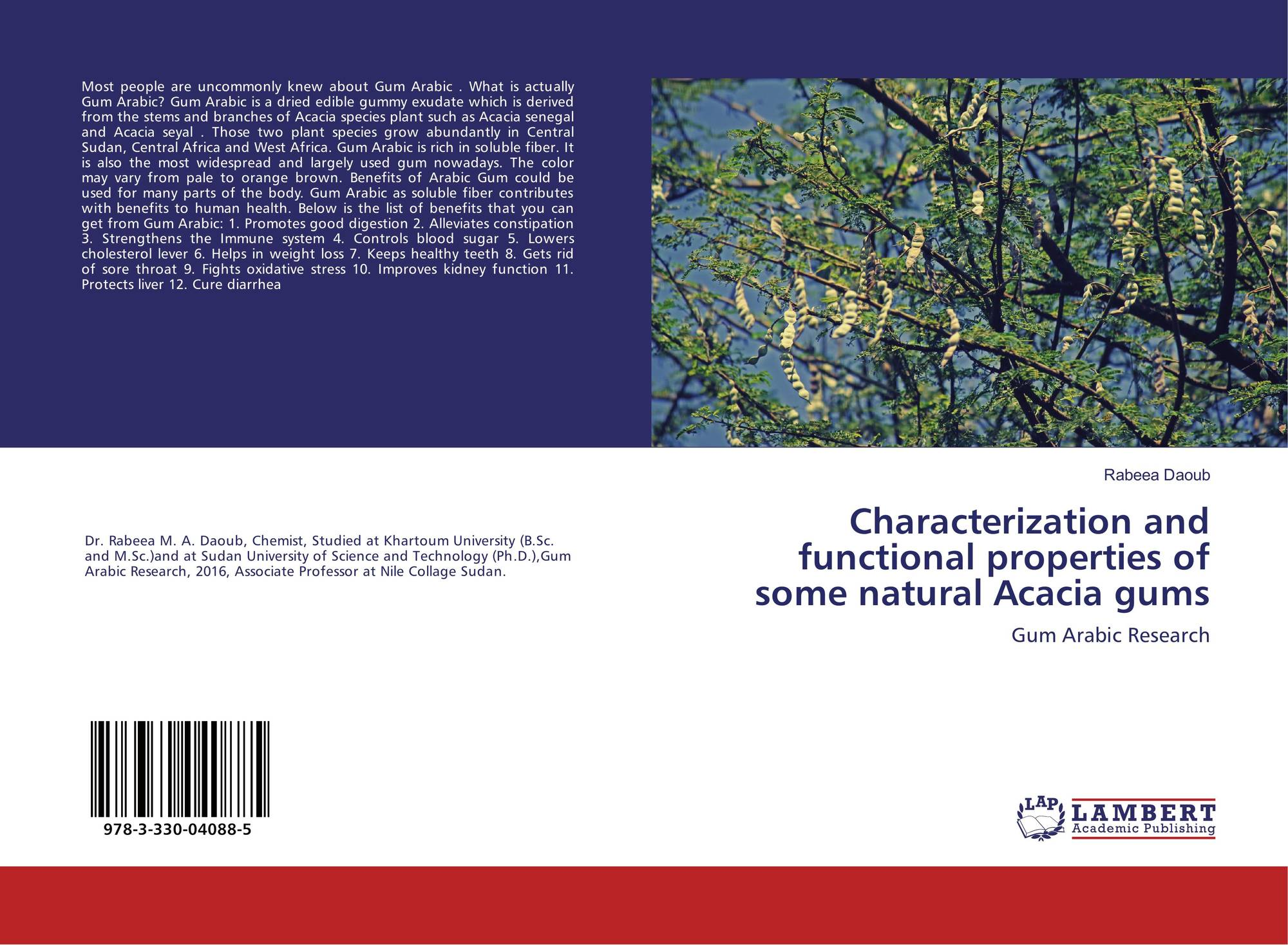 Characterization And Functional Properties Of Some Natural Acacia
