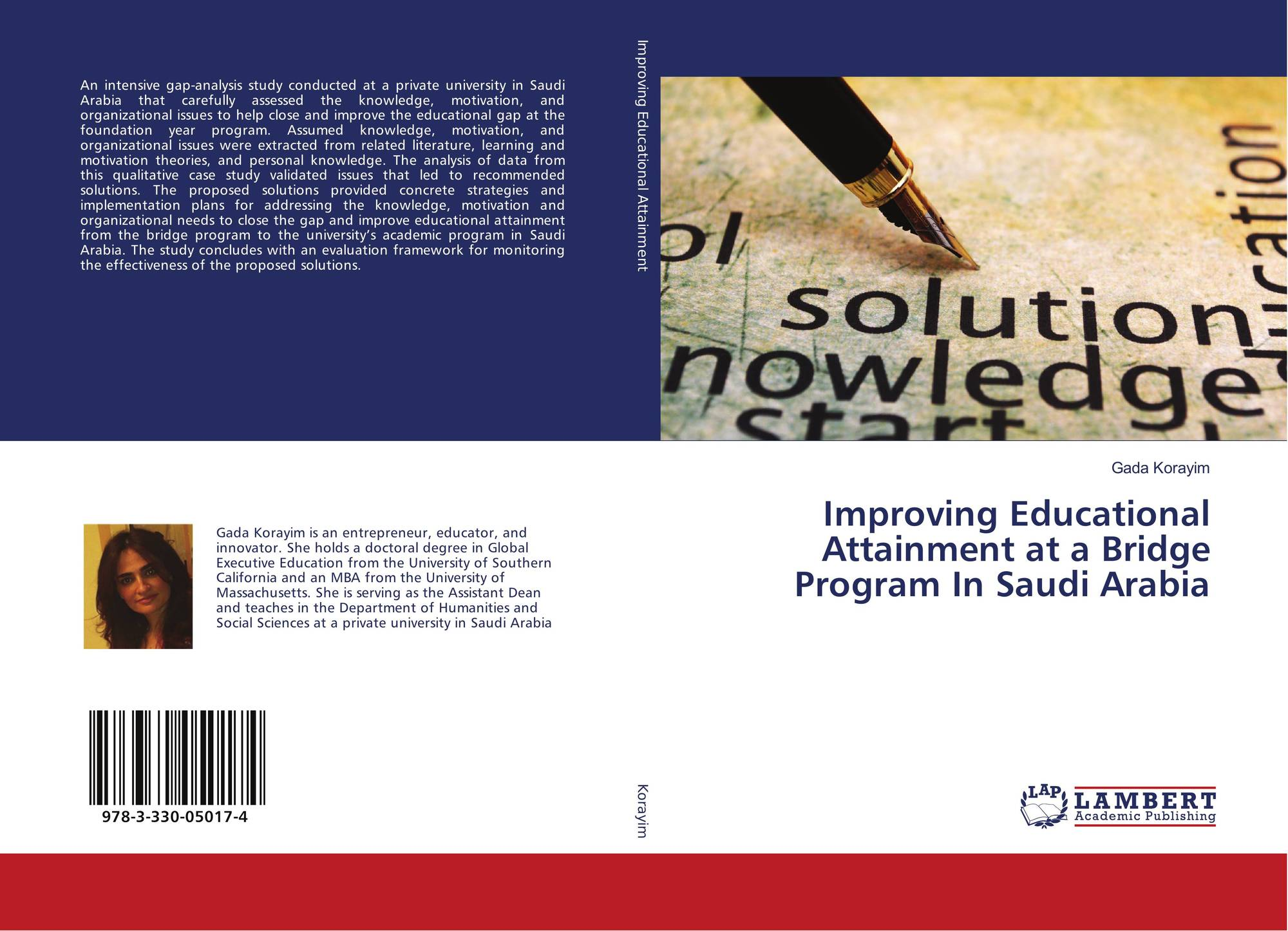 Category/education - Bookcover Of Improving Educational Attainment At A Bridge Program In Saudi Arabia