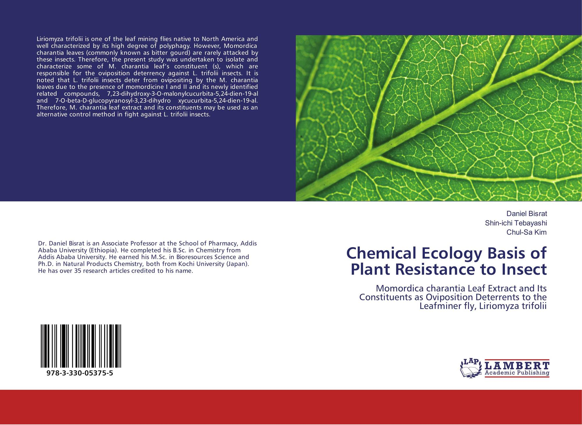 Chemical Ecology Basis of Plant Resistance to Insect, 978-3-330