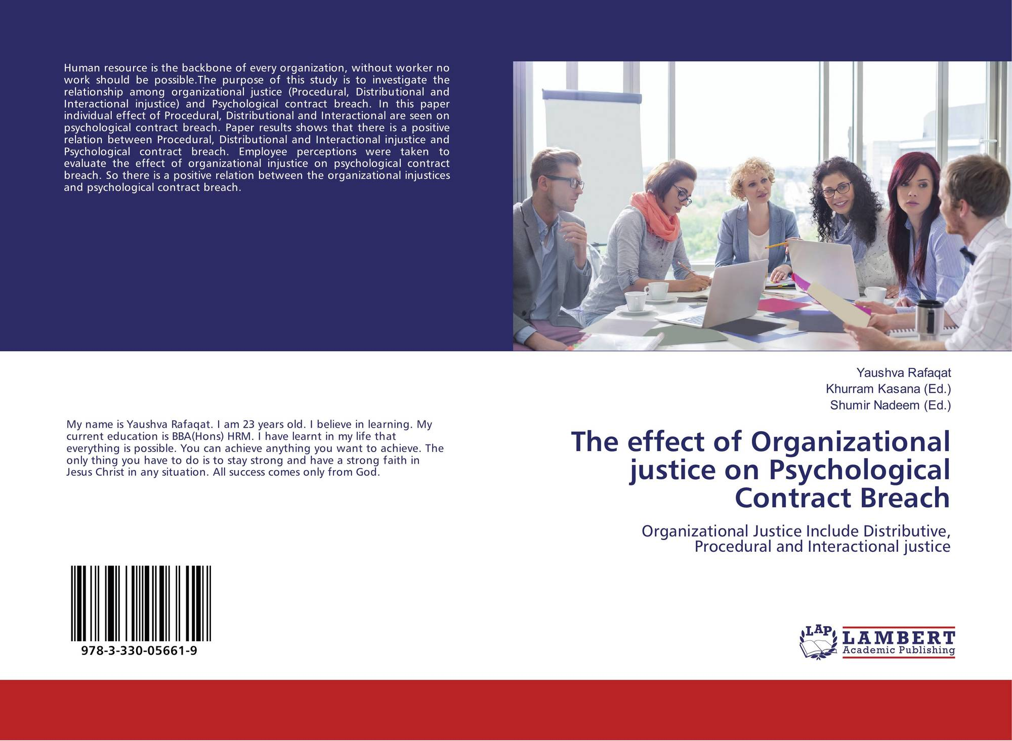 The Effect Of Organizational Justice On Psychological Contract