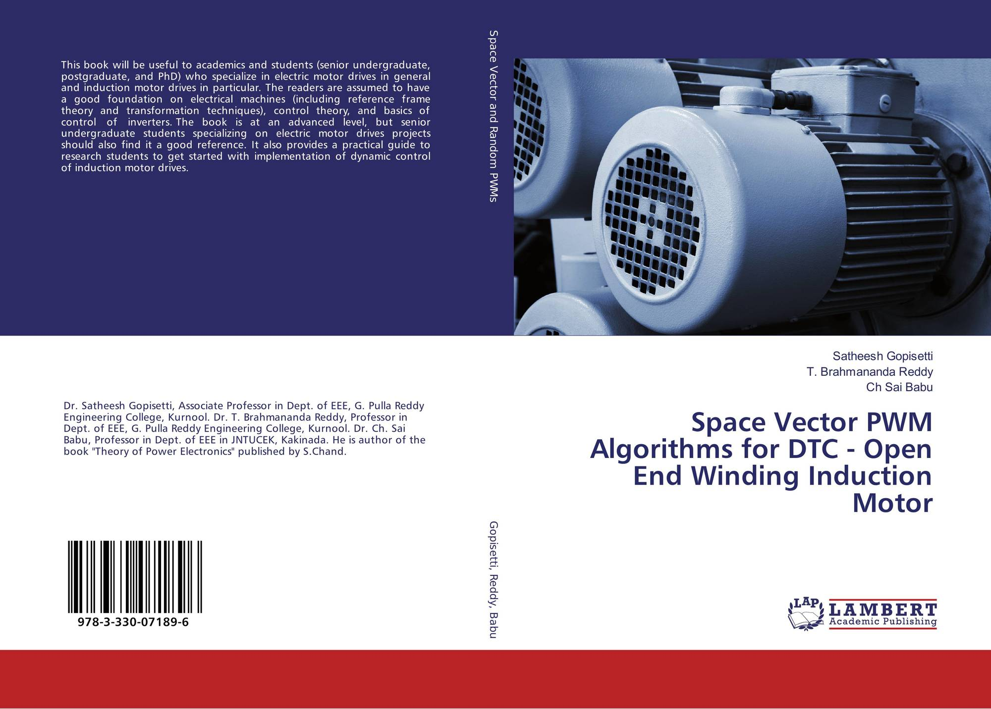Space Vector PWM Algorithms for DTC - Open End Winding Induction ...