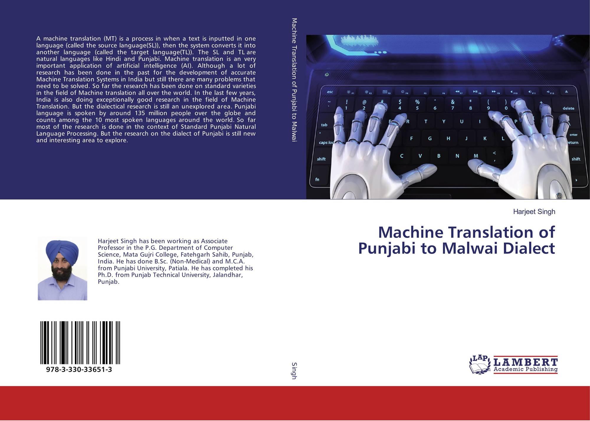 Machine Translation of Punjabi to Malwai Dialect, 978-3-330-33651-3
