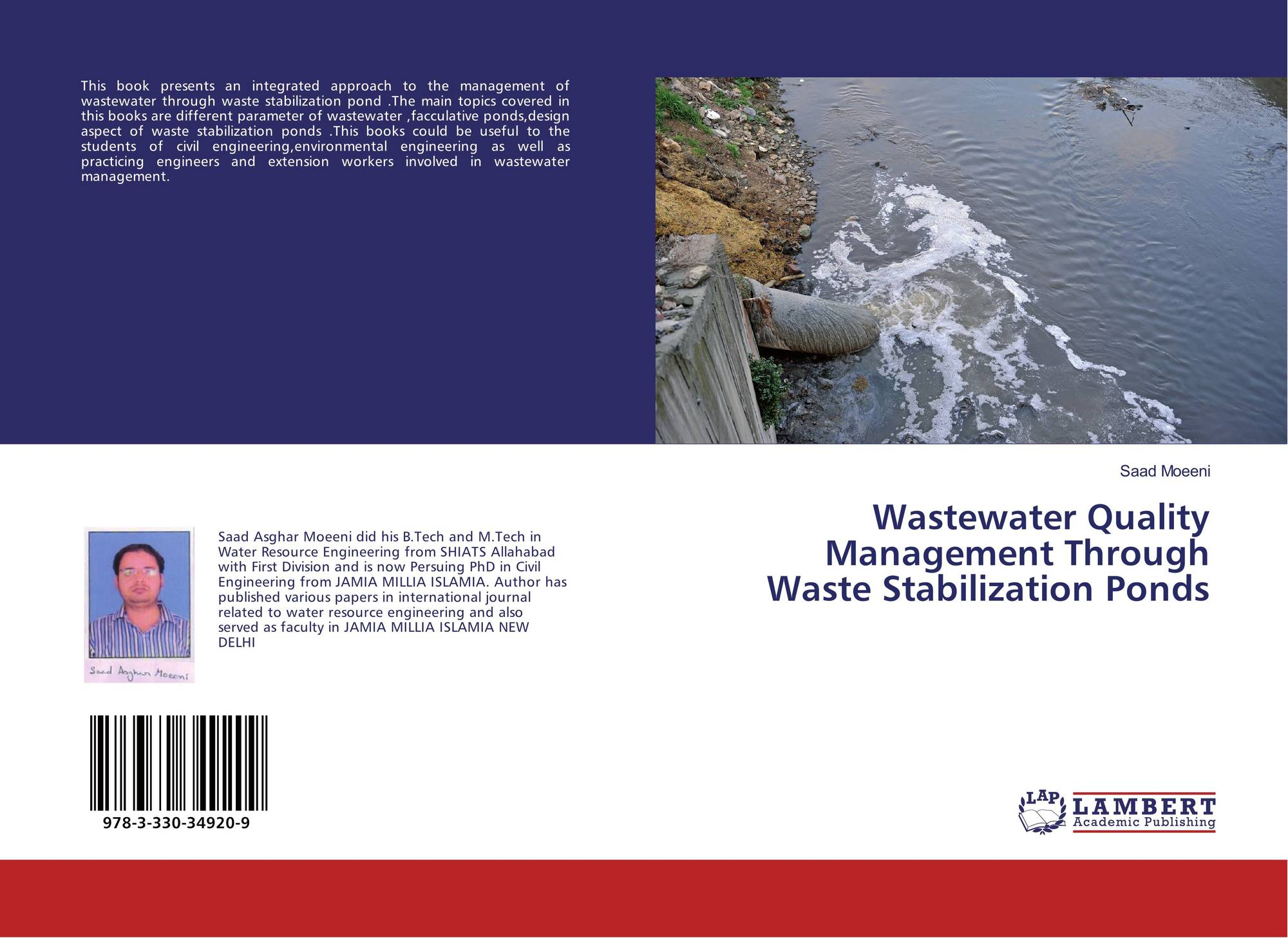 Wastewater quality management through waste stabilization for Design of stabilisation pond