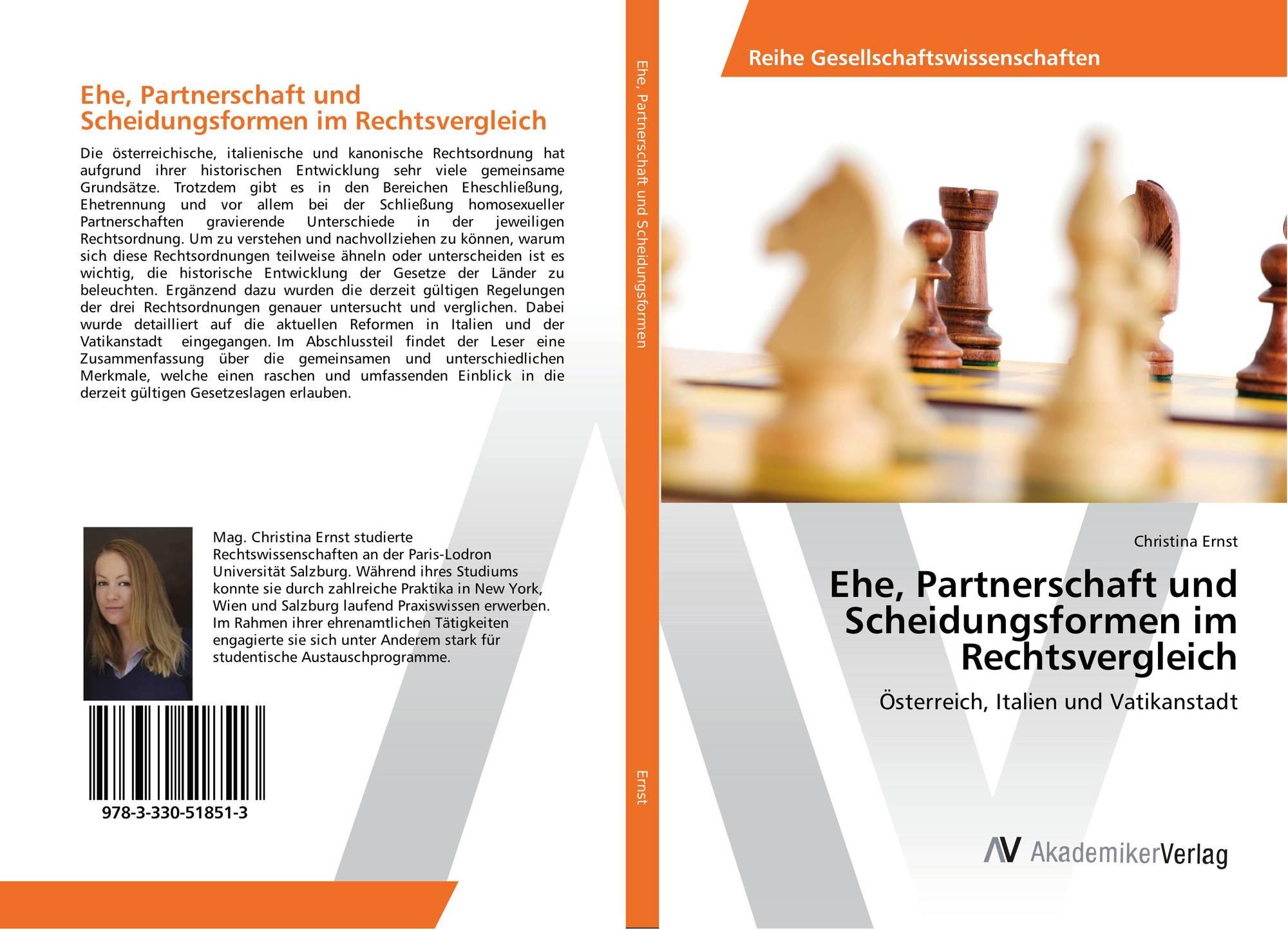 Ehe, Partnerschaft und Scheidungsformen im Rechtsvergleich, 978-3 ...