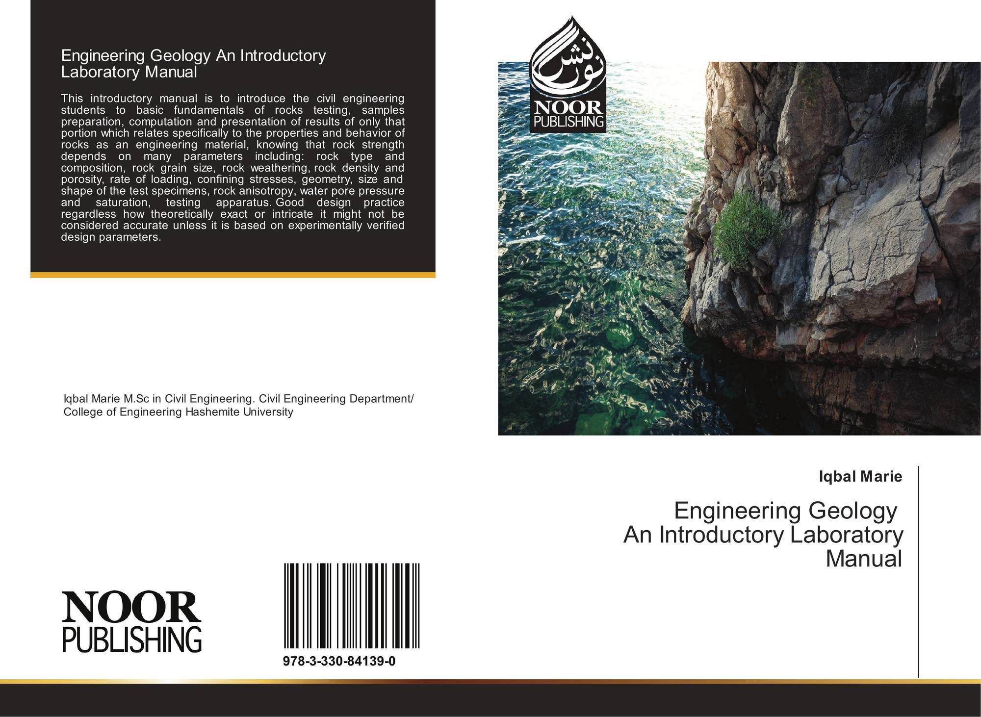 Bookcover of Engineering Geology An Introductory Laboratory Manual.  9783330841390