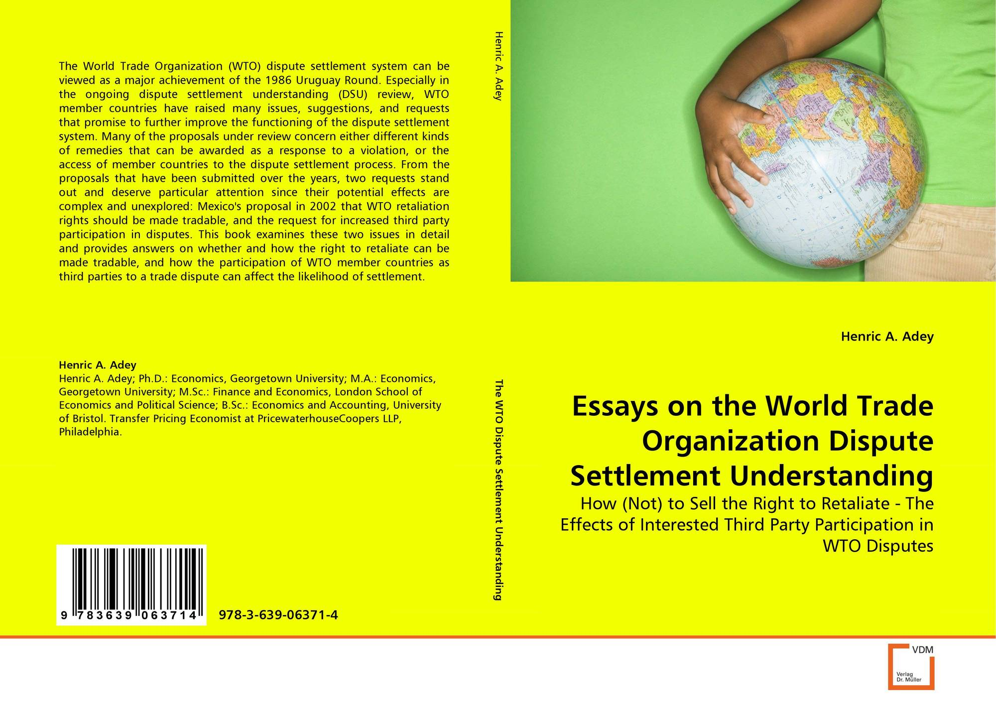 essay about world trade organization Established on january 1, 1995, the world trade organization (wto) is now the umbrella organization of the general agreement on tariffs and trade (gatt) gatt came into existence in 1947 with the intentions of providing the world with a forum that encouraged international trade between its.