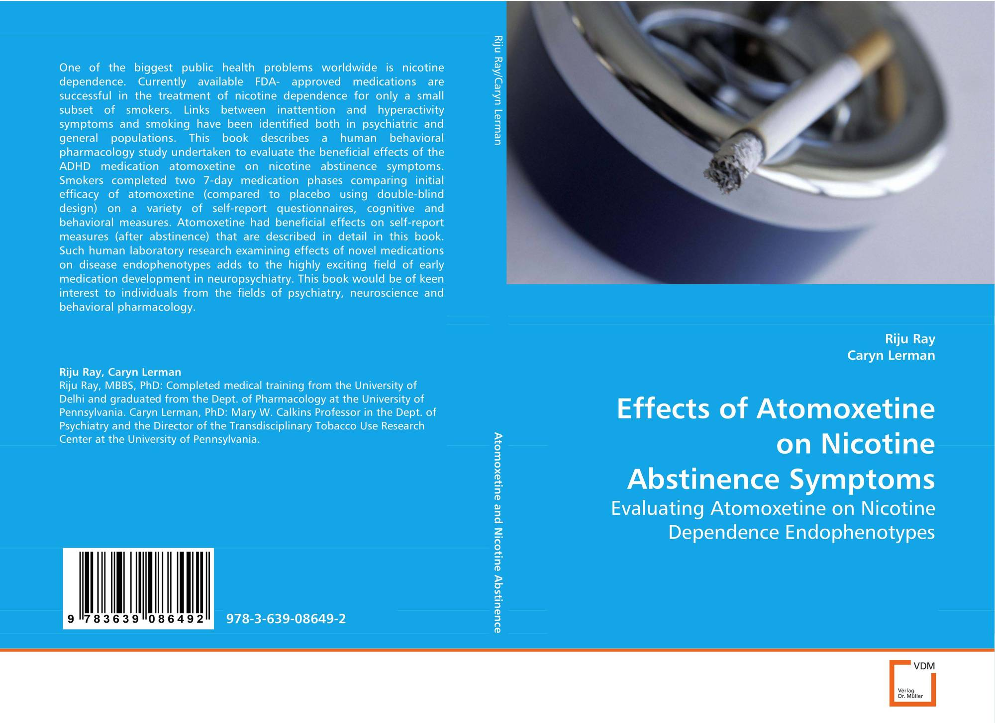 Effects of Atomoxetine on Nicotine AbstinenceSymptoms, 978-3