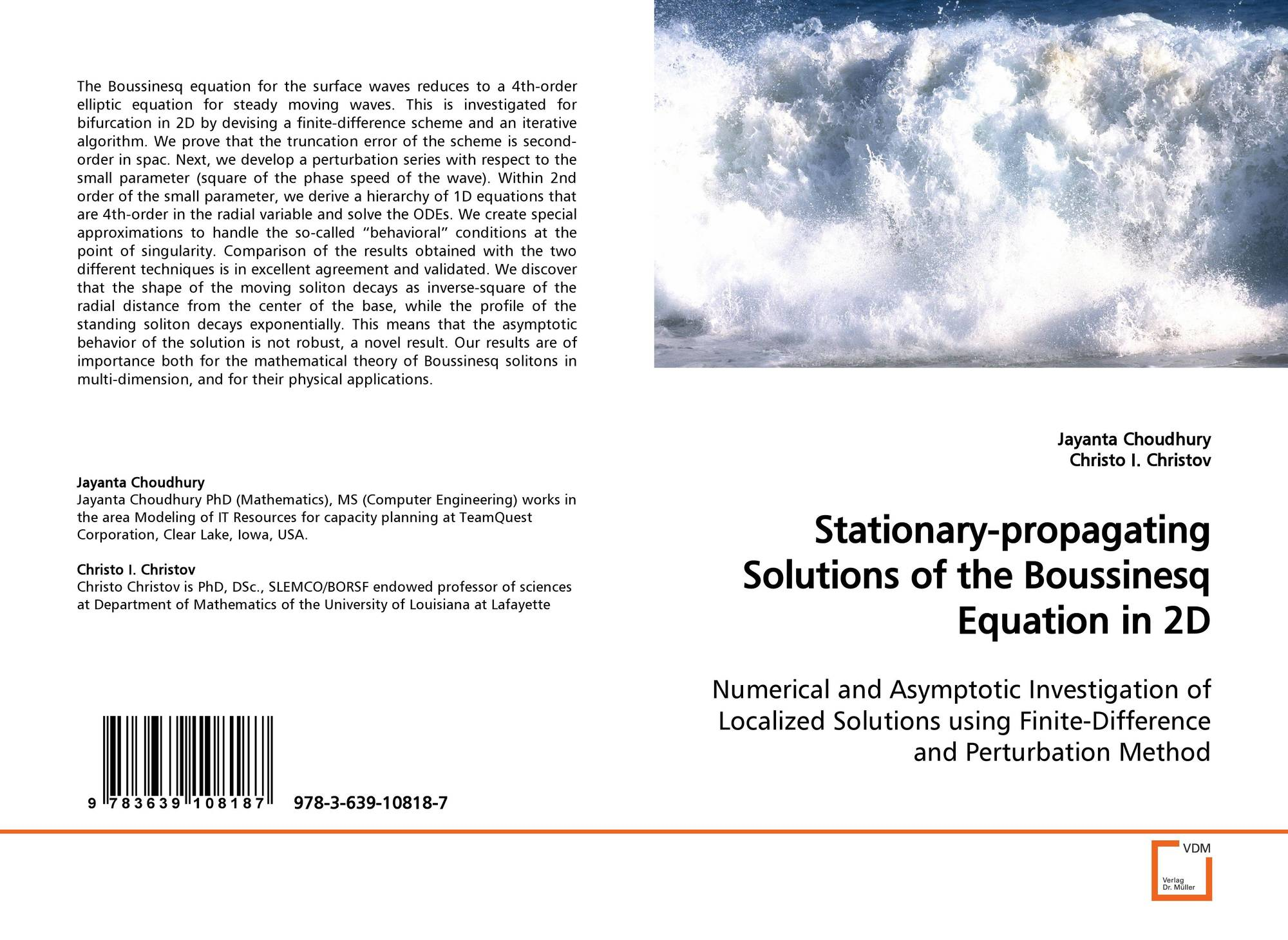 Stationary-propagating Solutions of the BoussinesqEquation in 2D
