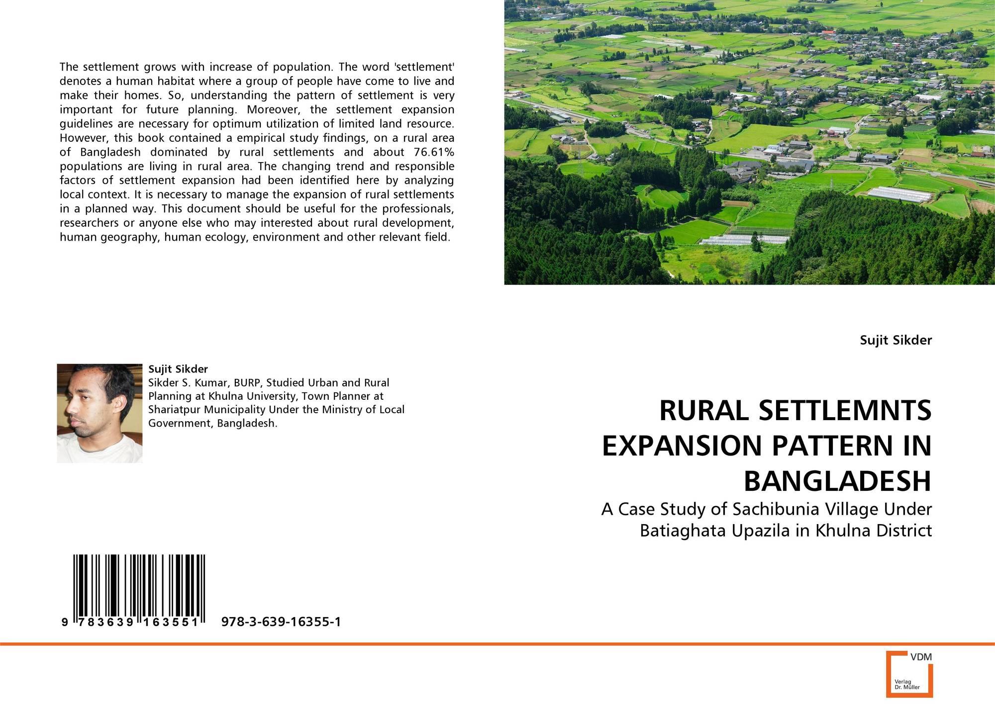RURAL SETTLEMNTS EXPANSION PATTERN IN BANGLADESH, 978-3-639