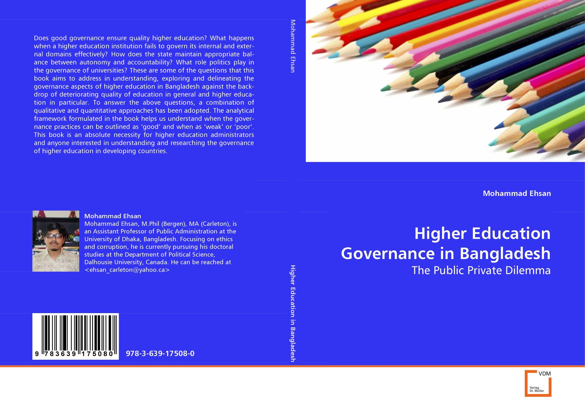 Higher Education Governance in Bangladesh, 978-3-639-17508-0