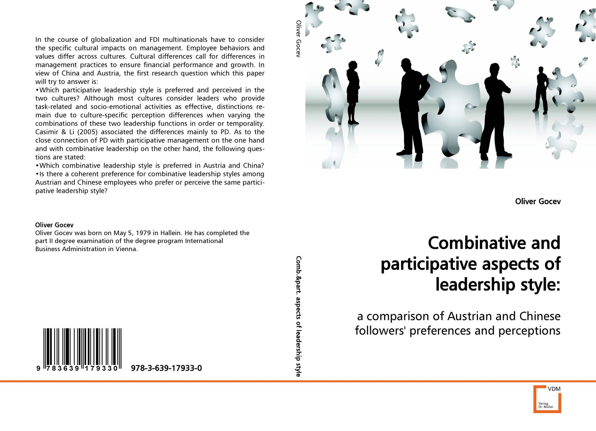 bookcover of combinative and participative aspects of leadership style