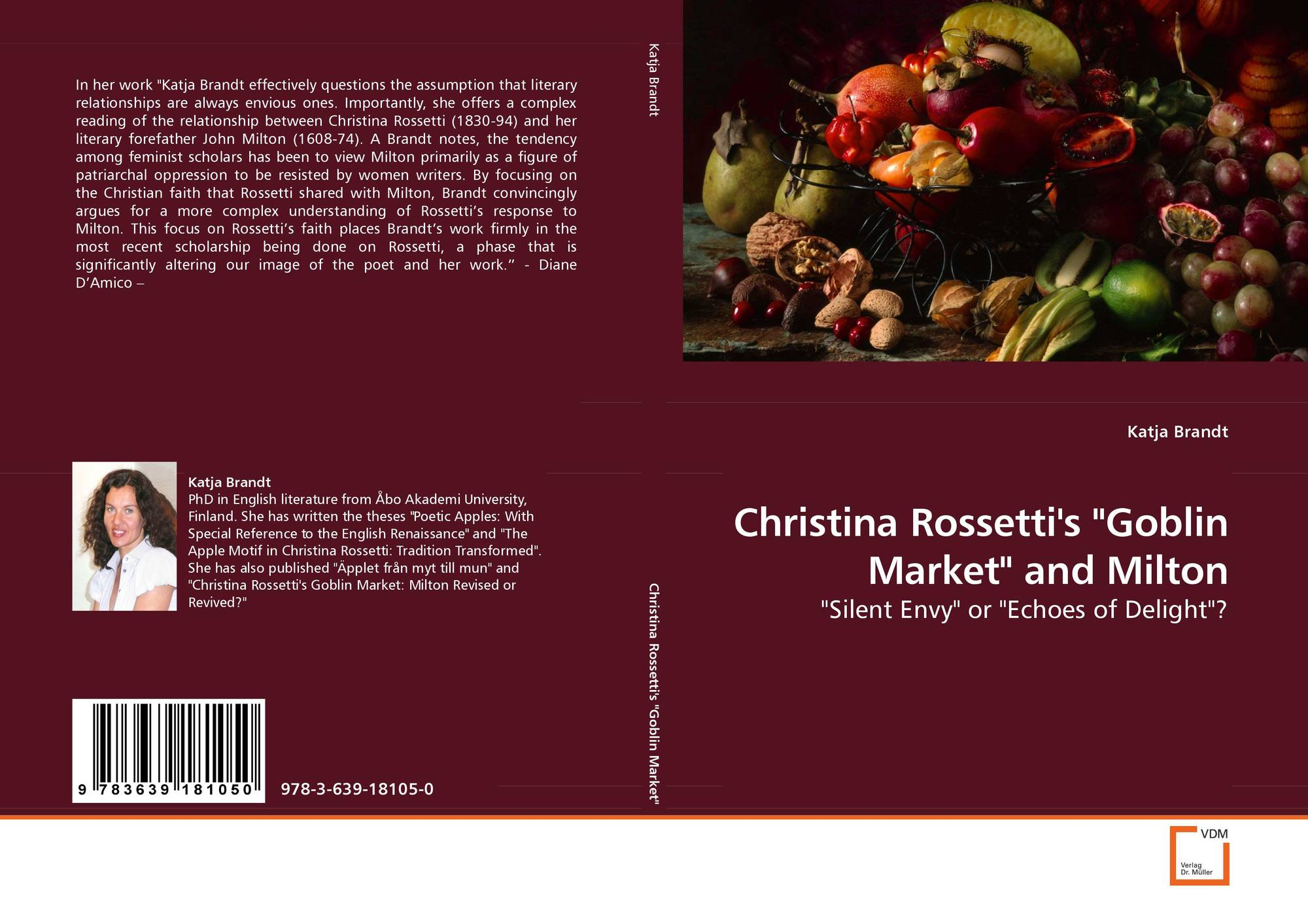 a literary analysis of goblin market by christina rossetti Maria would eventually become an anglican nun in 1873 and christina would work for some time with the anglican sisterhood at the st mary dr simon avery is reader in modern literature and culture at the university of second edition of goblin market by christina rossetti, with original.