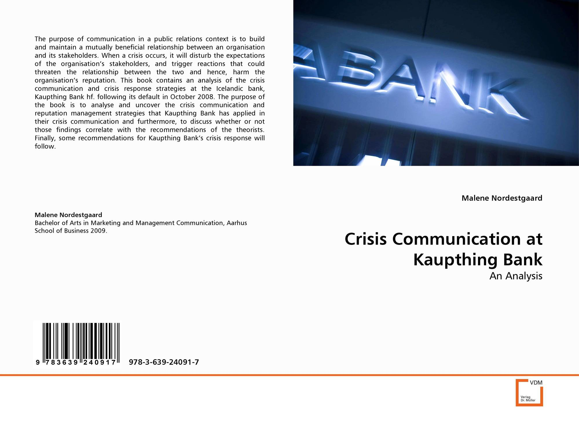 crisiscommunication final Theorizing crisis communication presents a comprehensive review and critique  a final word 259  and useful statement on the foundations of crisiscommunication.