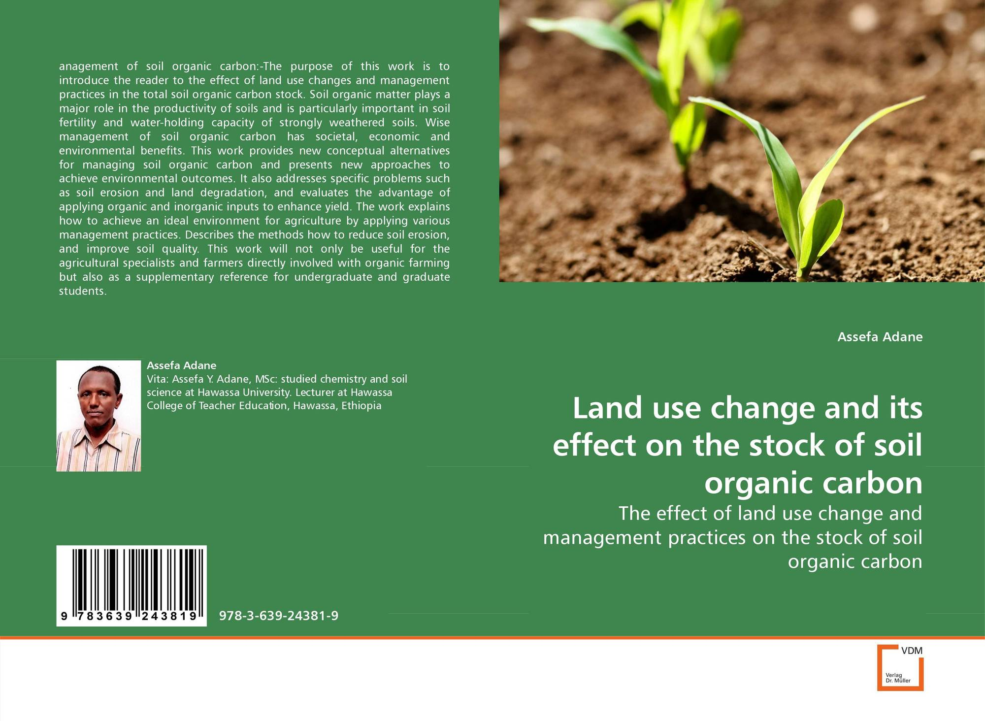 Land use change and its effect on the stock of soil for Uses of soil in english