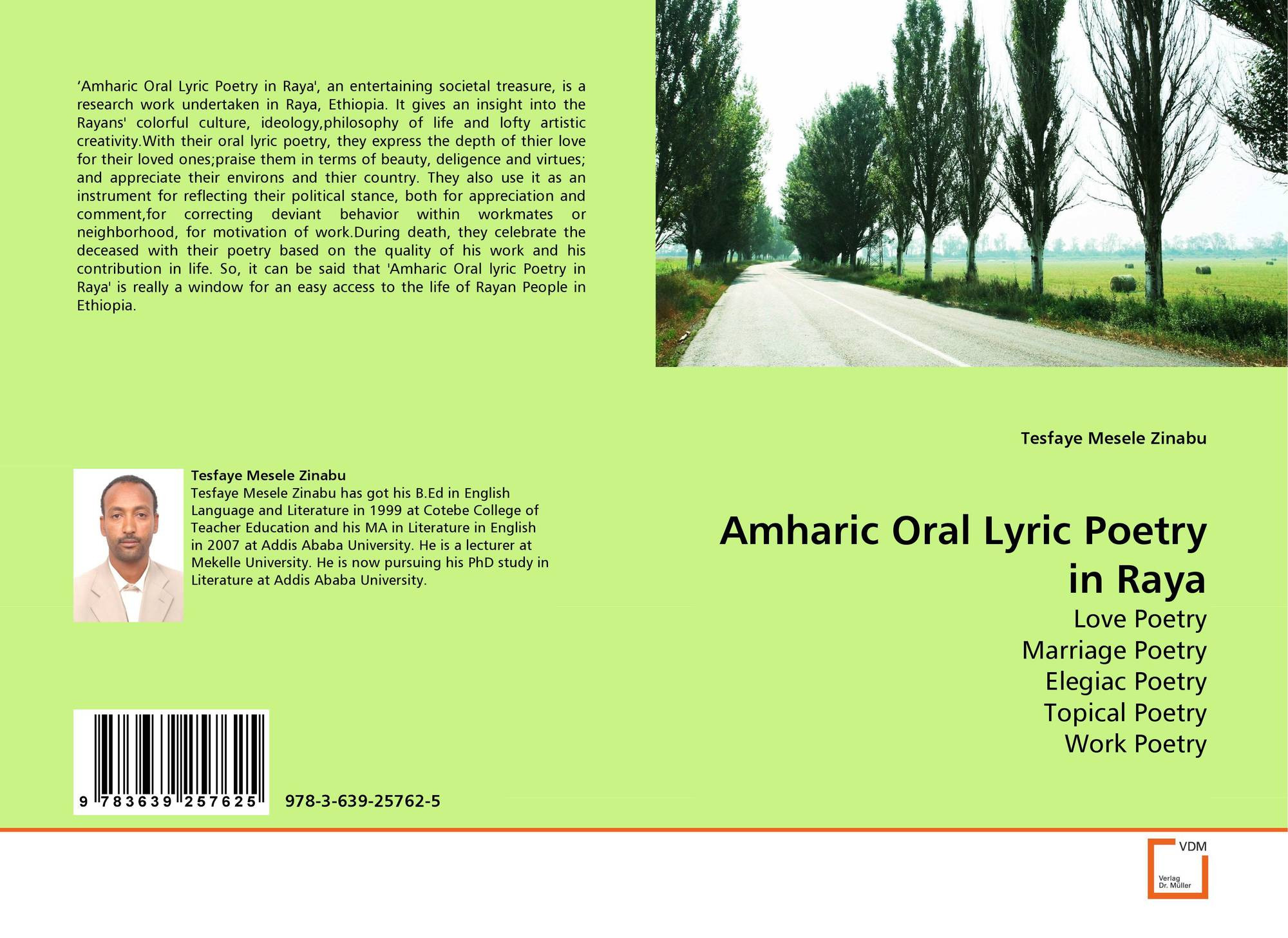Amharic Oral Lyric Poetry in Raya, 978-3-639-25762-5