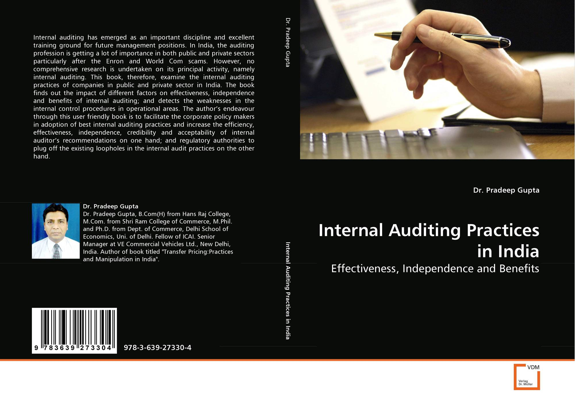 Internal Auditing Practices in India, 978-3-639-27330-4, 3639273303
