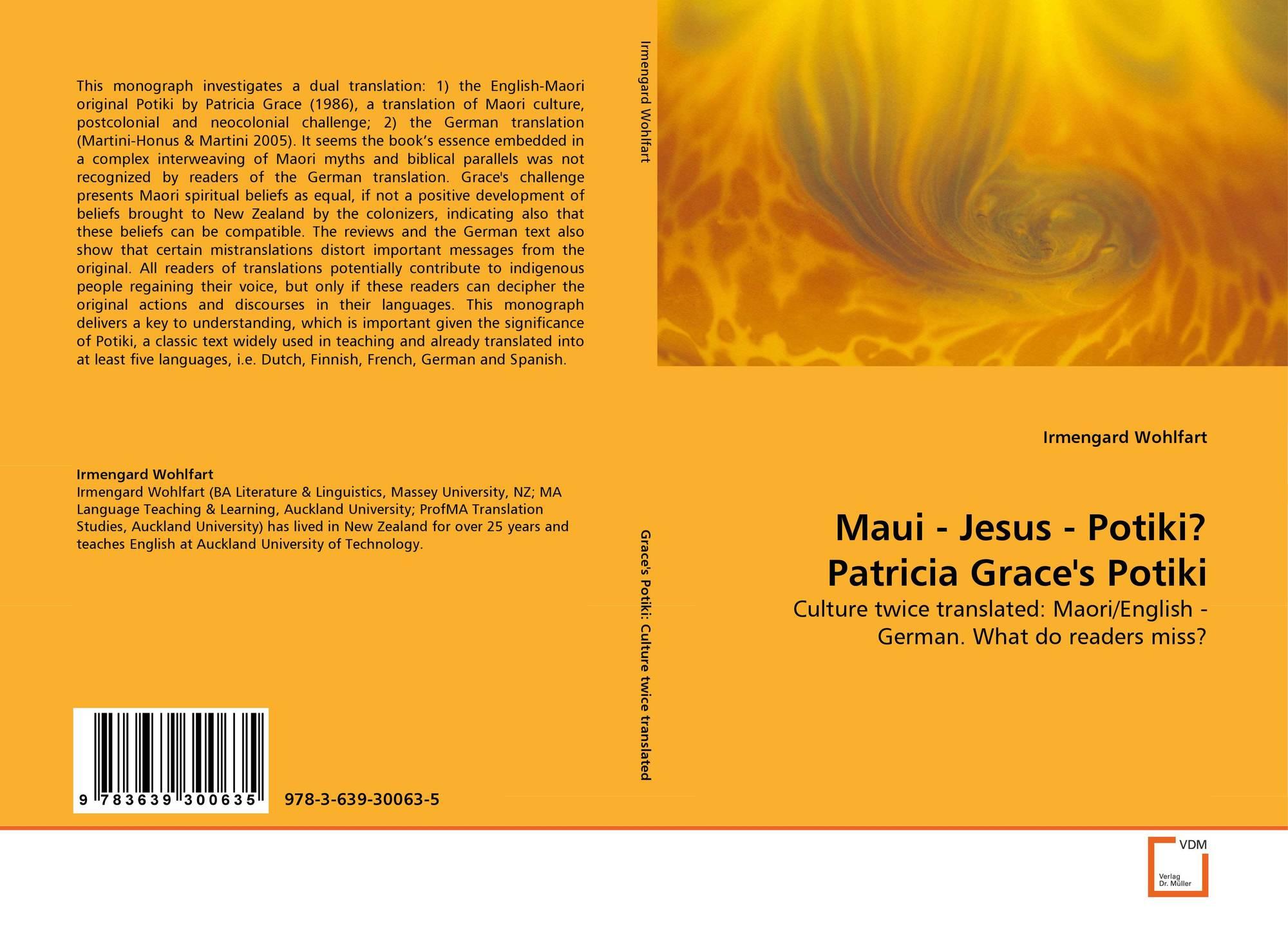 An analysis of potiki a novel about the maori people