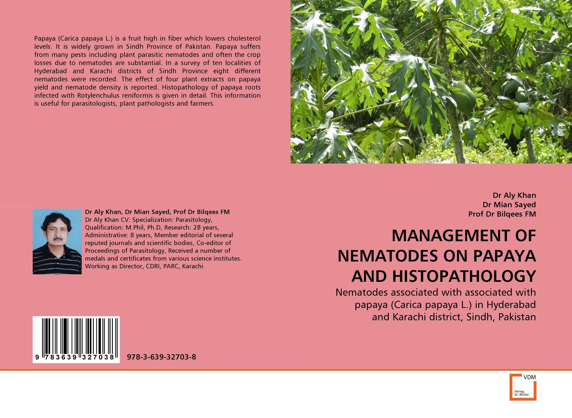 MANAGEMENT OF NEMATODES ON PAPAYA AND HISTOPATHOLOGY, 978-3