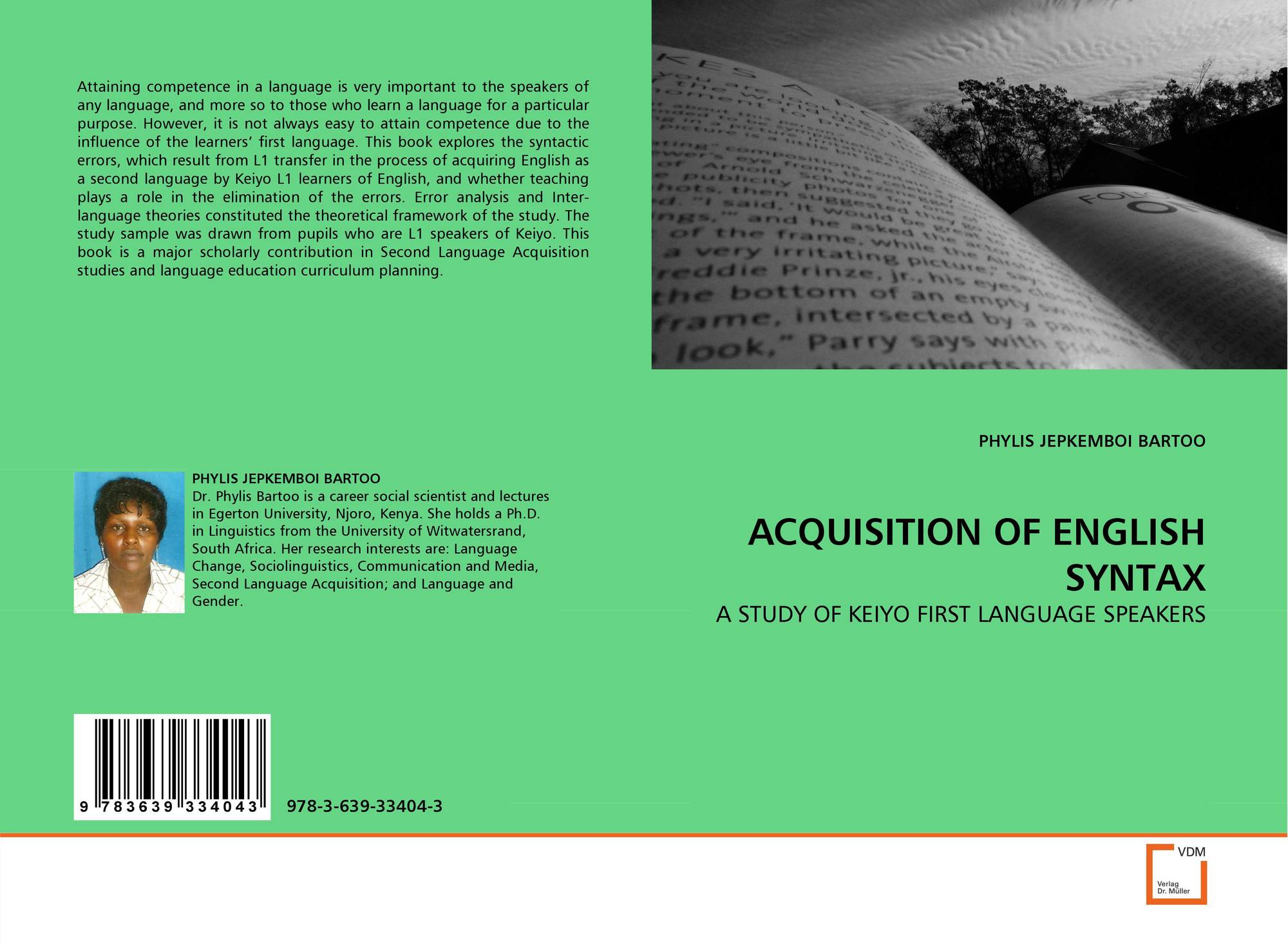 the acquisition of syntax Read and download acquisition of syntax in bilingual children free ebooks in pdf format - a scapegoat in the new wilderness the origins and rise of anti semitism in.