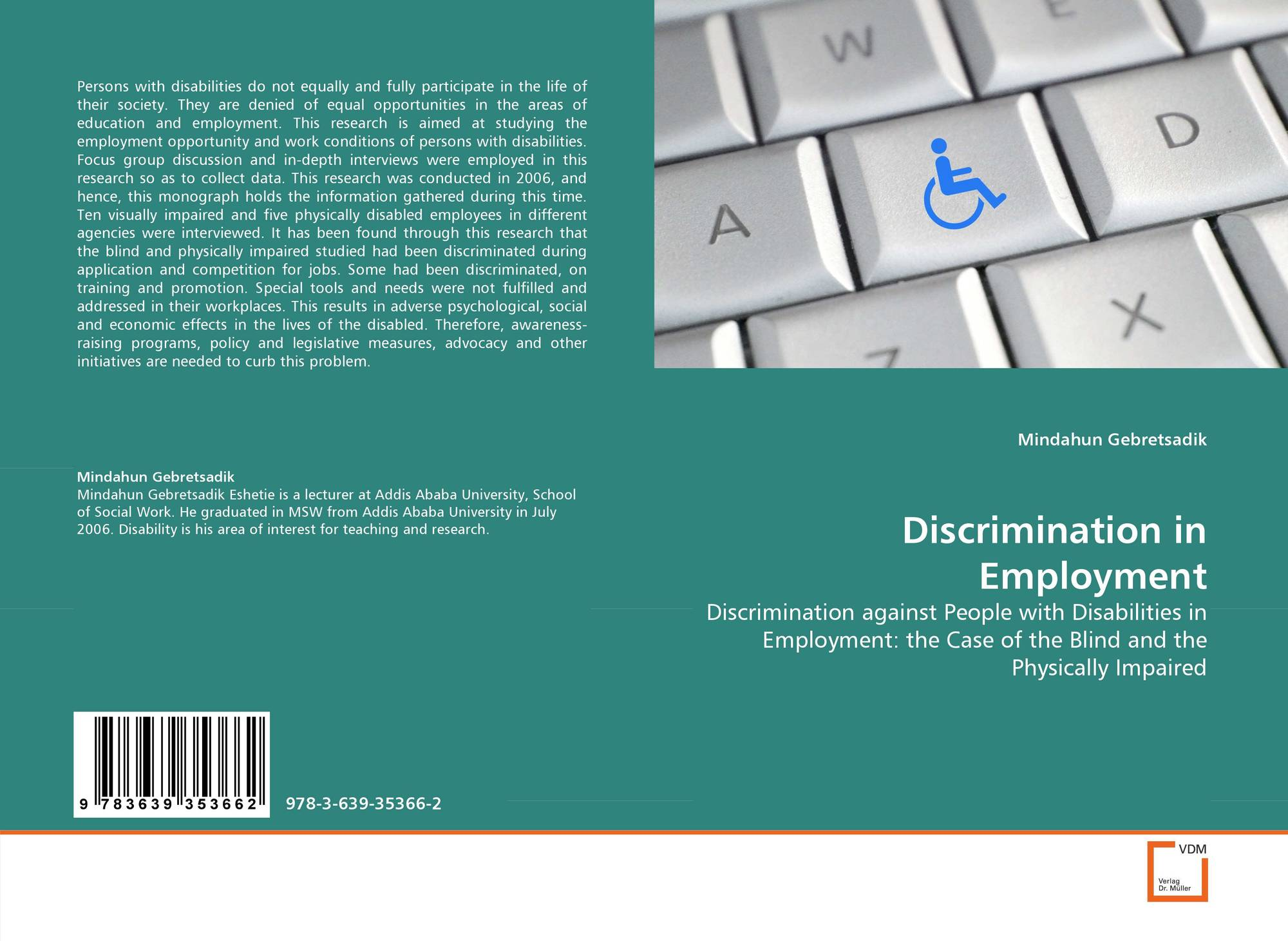 1 discrimination in employment Sex or gender discrimination in employment involves treating someone unfavorably because of the person's sex, whether they are applying for a job or are a current employee.