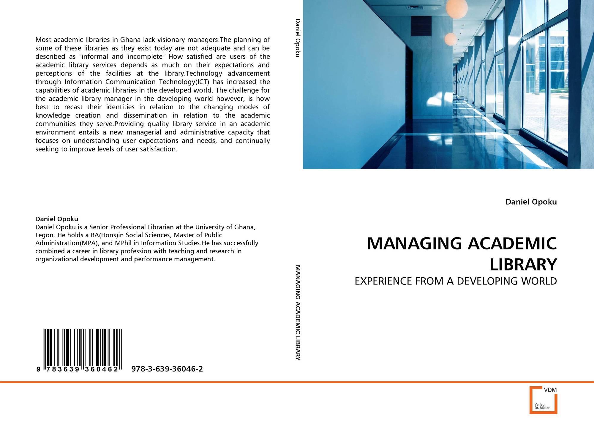 Daniel education system - Capa Do Livro De Managing Academic Library