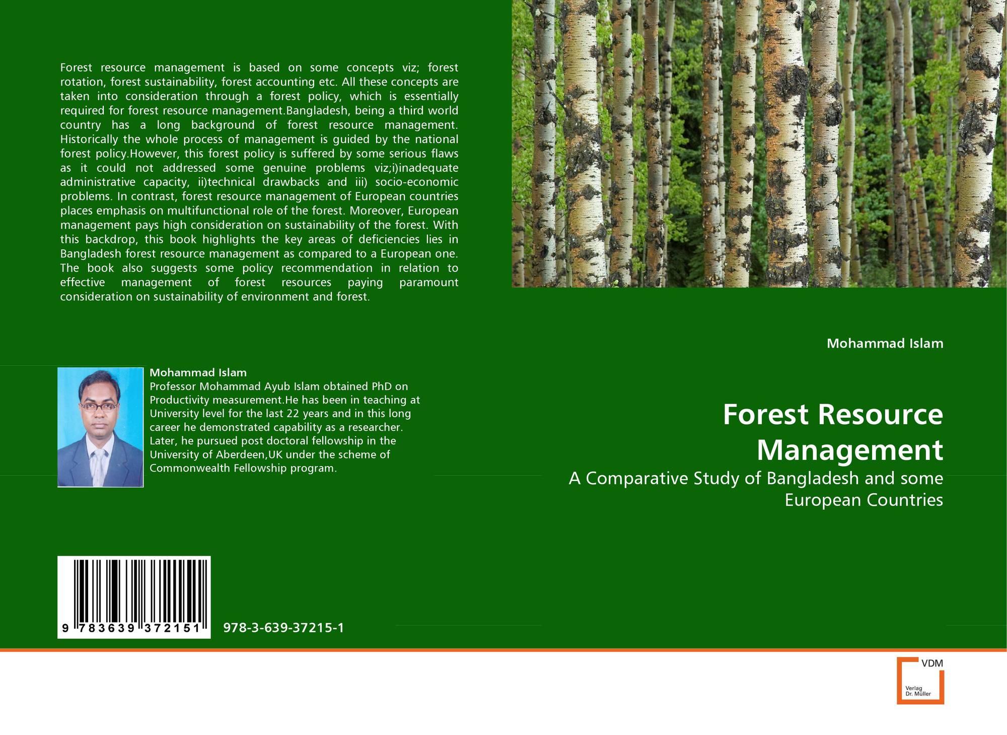 Forest Resource Management : Vdm verlag dr müller products page