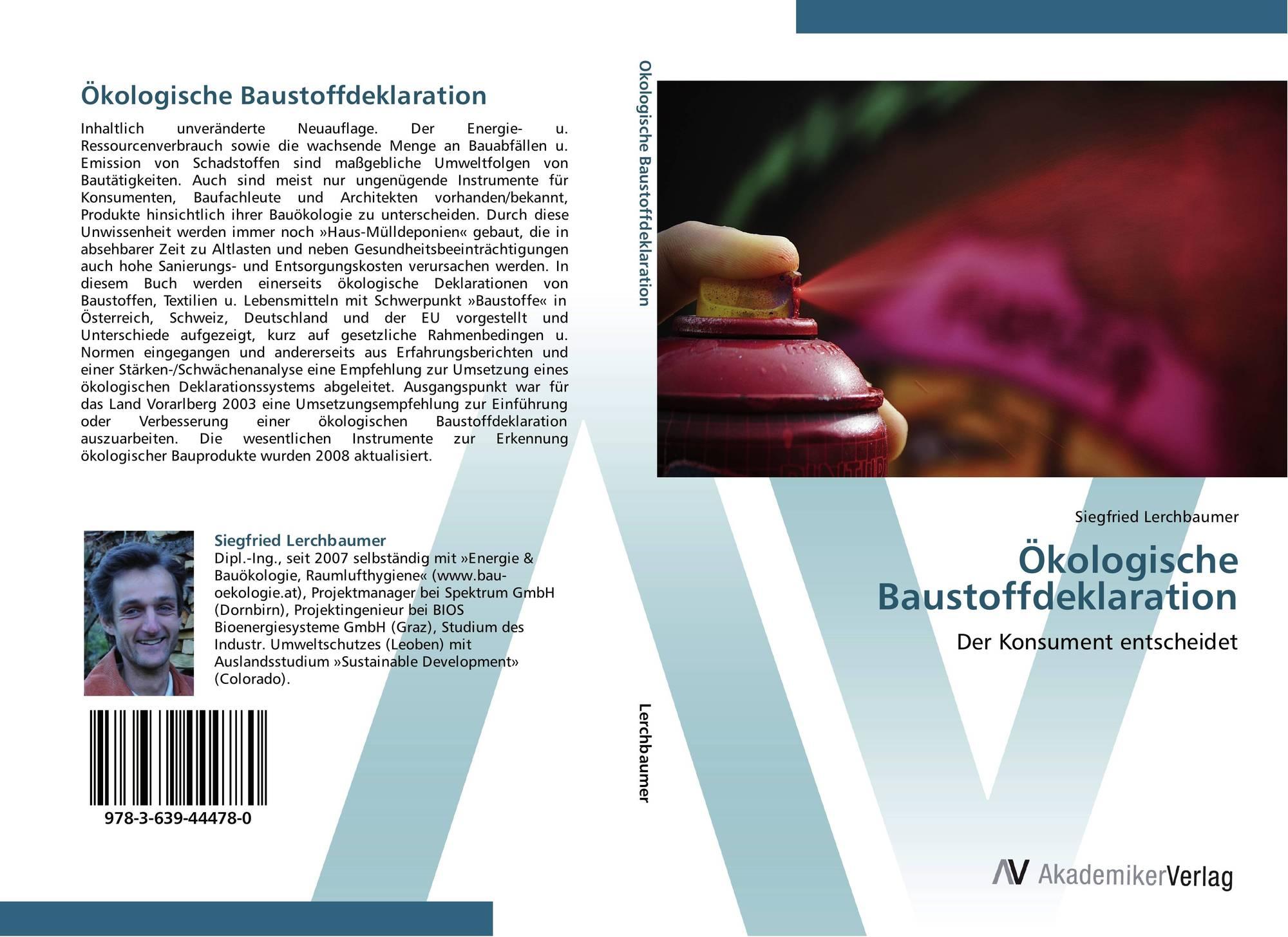 5a6baa97c13bb0 Buchcover von Ökologische Baustoffdeklaration