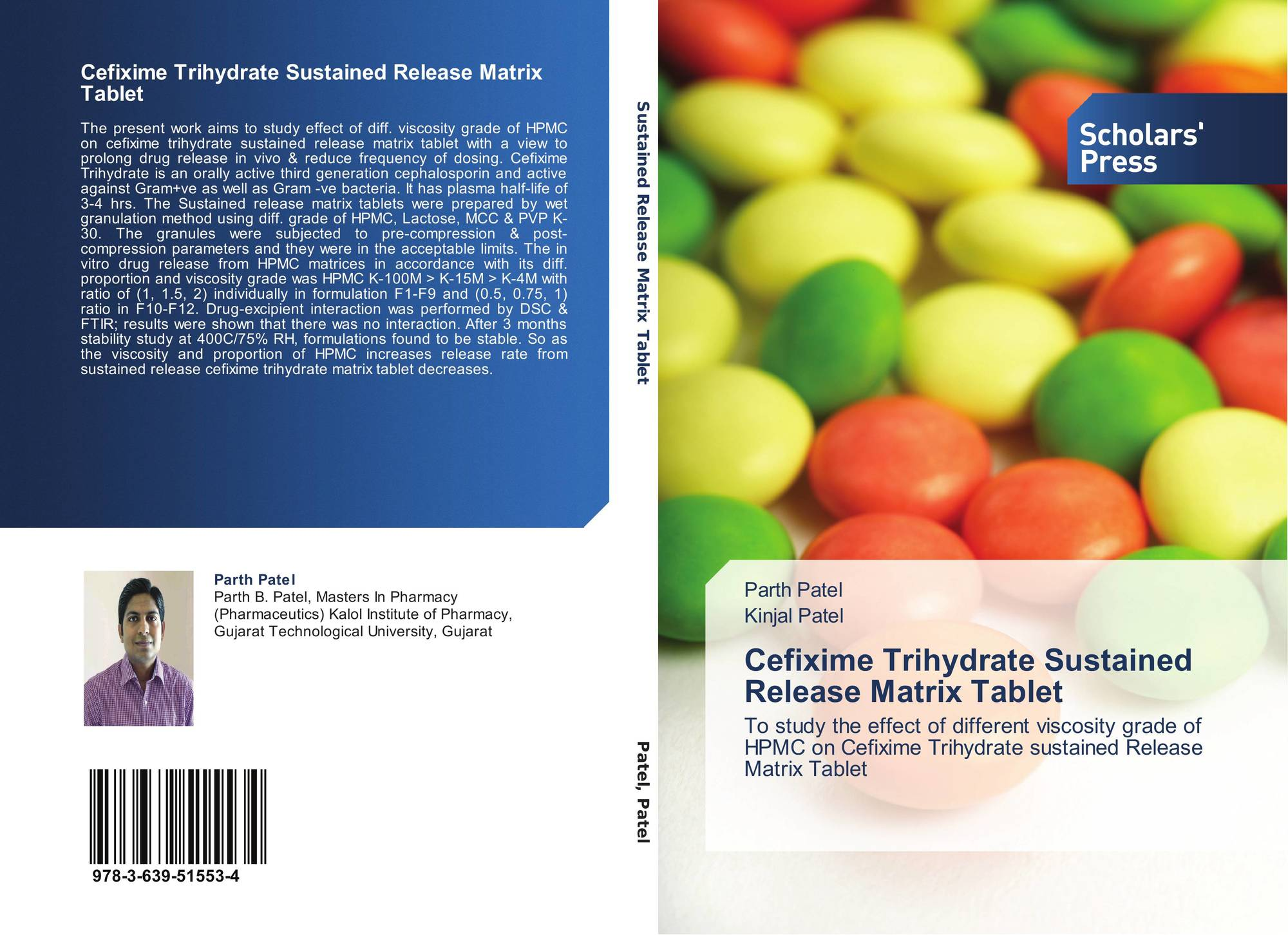 Cefixime Trihydrate Sustained Release Matrix Tablet, 978-3