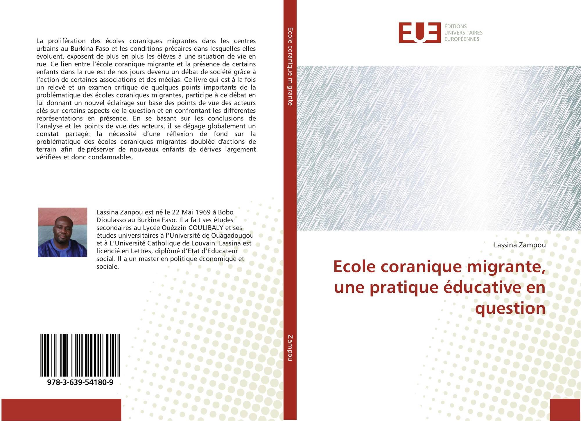 Category/education - Bookcover Of Ecole Coranique Migrante Une Pratique Ducative En Question