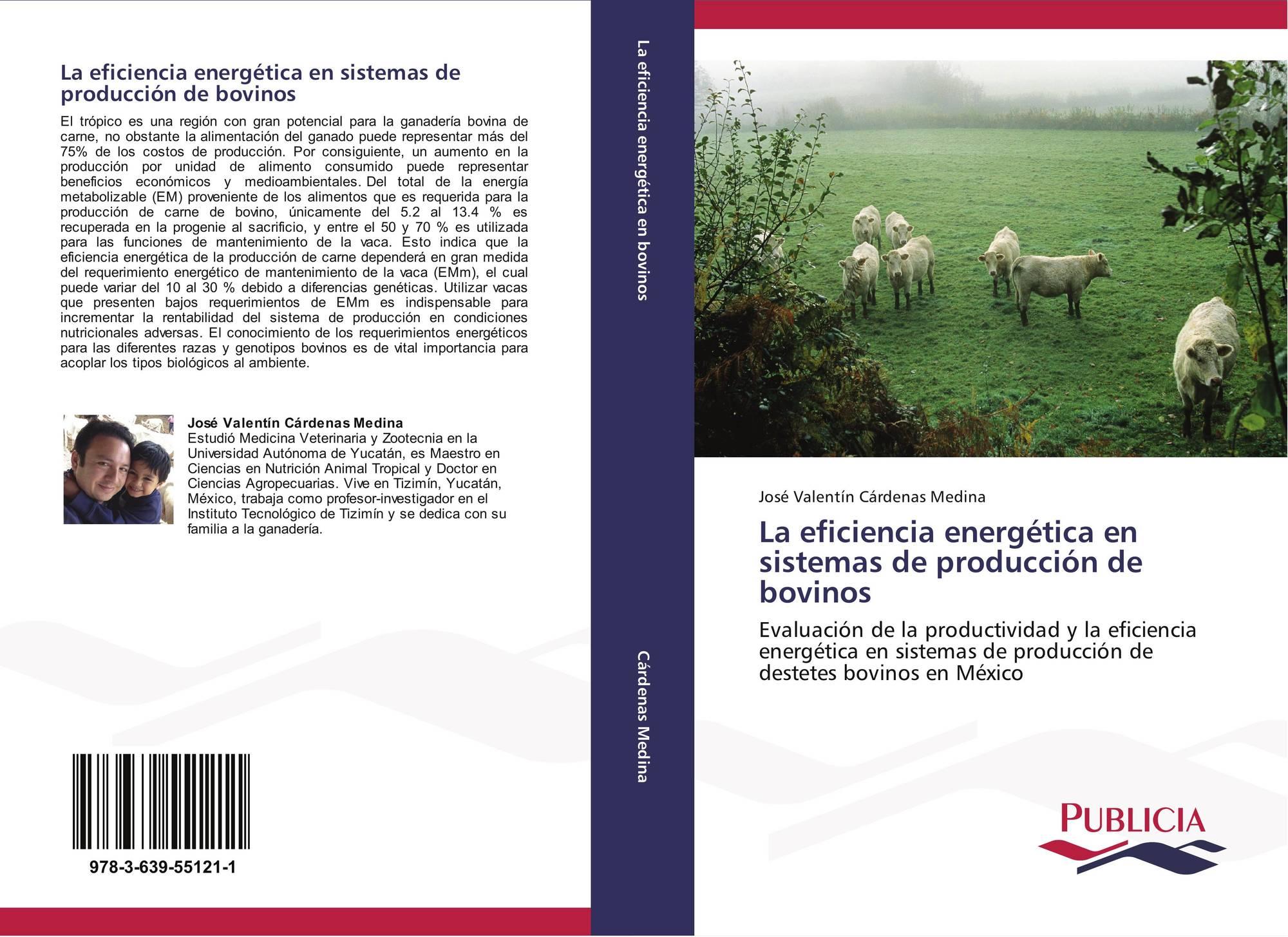 Portada del libro de la eficiencia energ tica en sistemas de producci n de bovinos