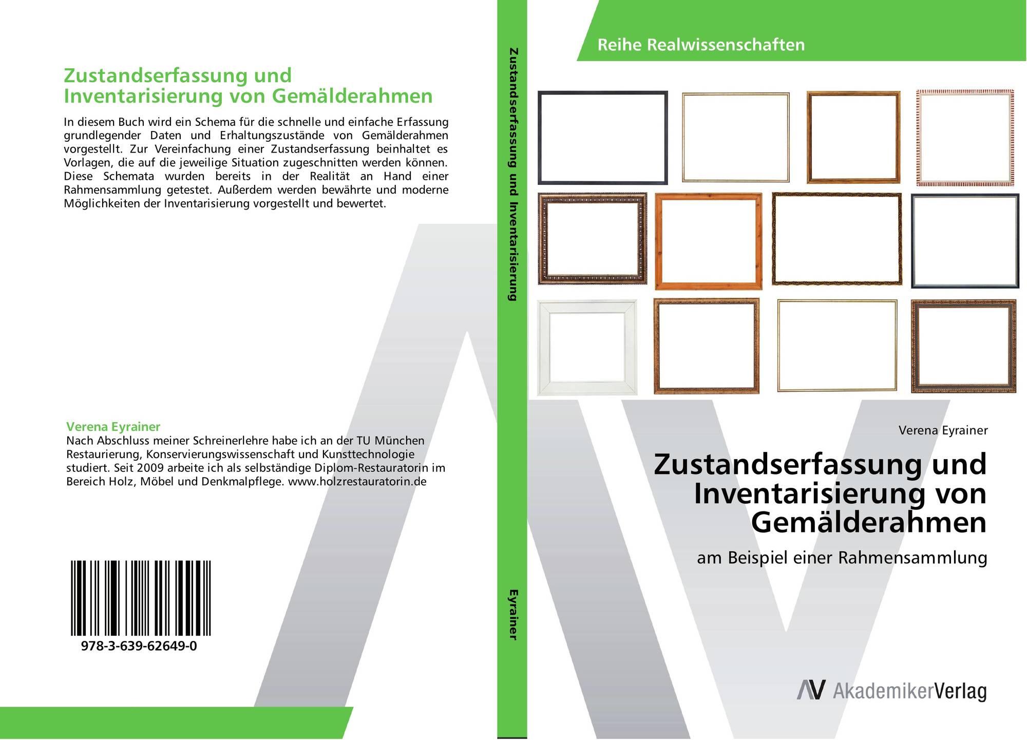 Zustandserfassung und Inventarisierung von Gemälderahmen, 978-3-639 ...
