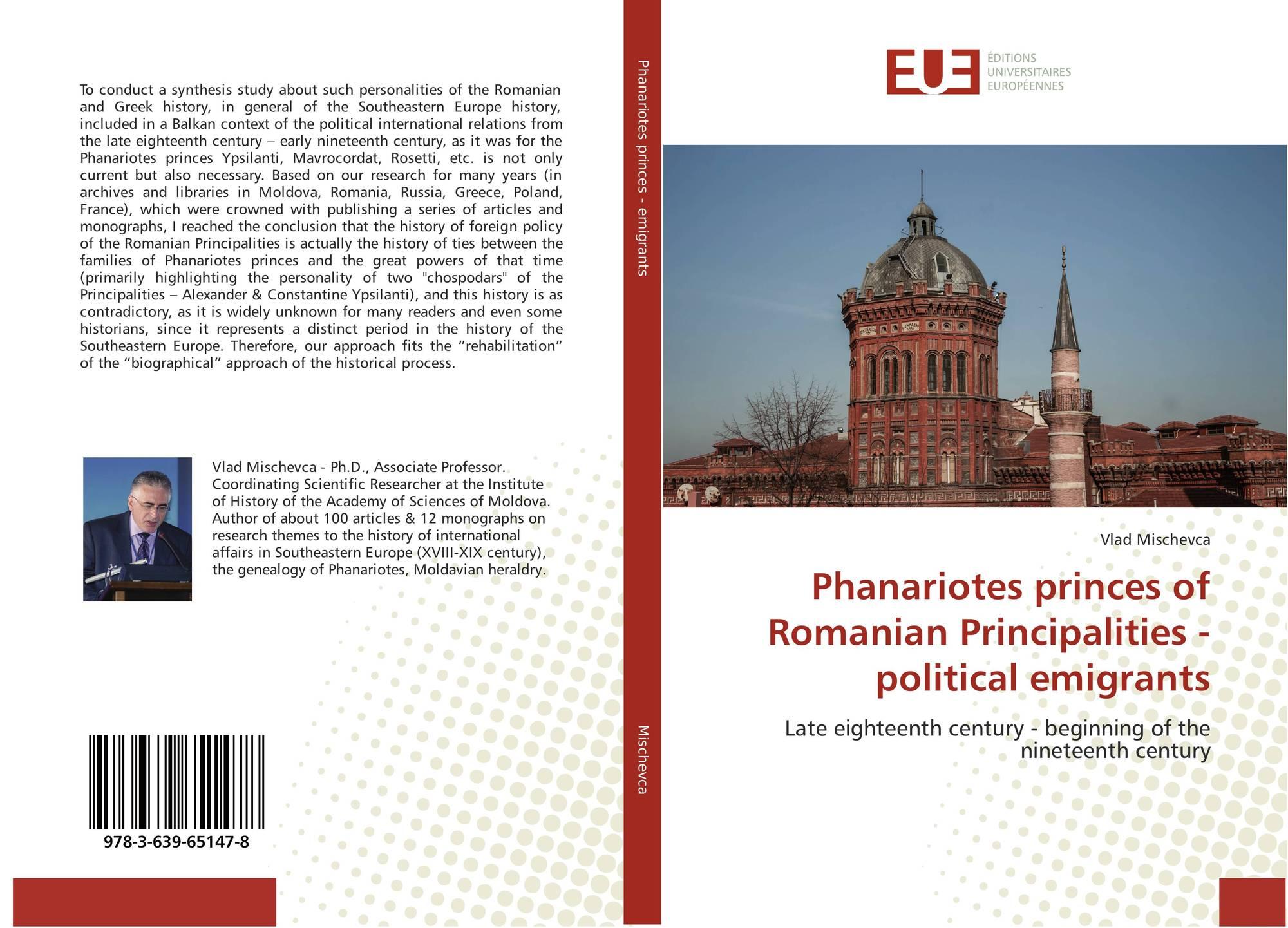 Phanariotes princes of Romanian Principalities - political emigrants