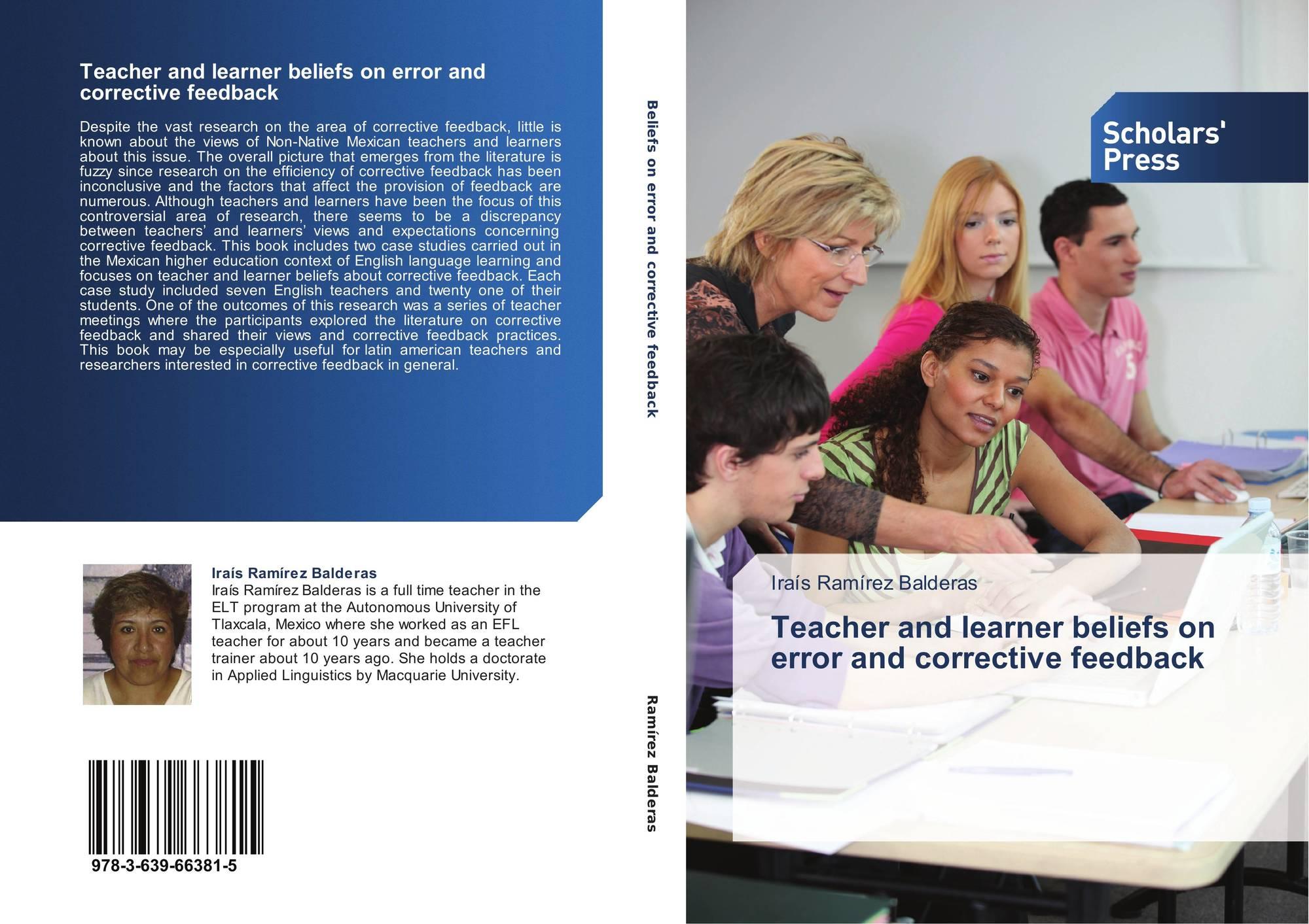 corrective feedback and teacher development Learners' perceptions of teacher written feedback  teacher written feedback commentary in an  written corrective feedback.