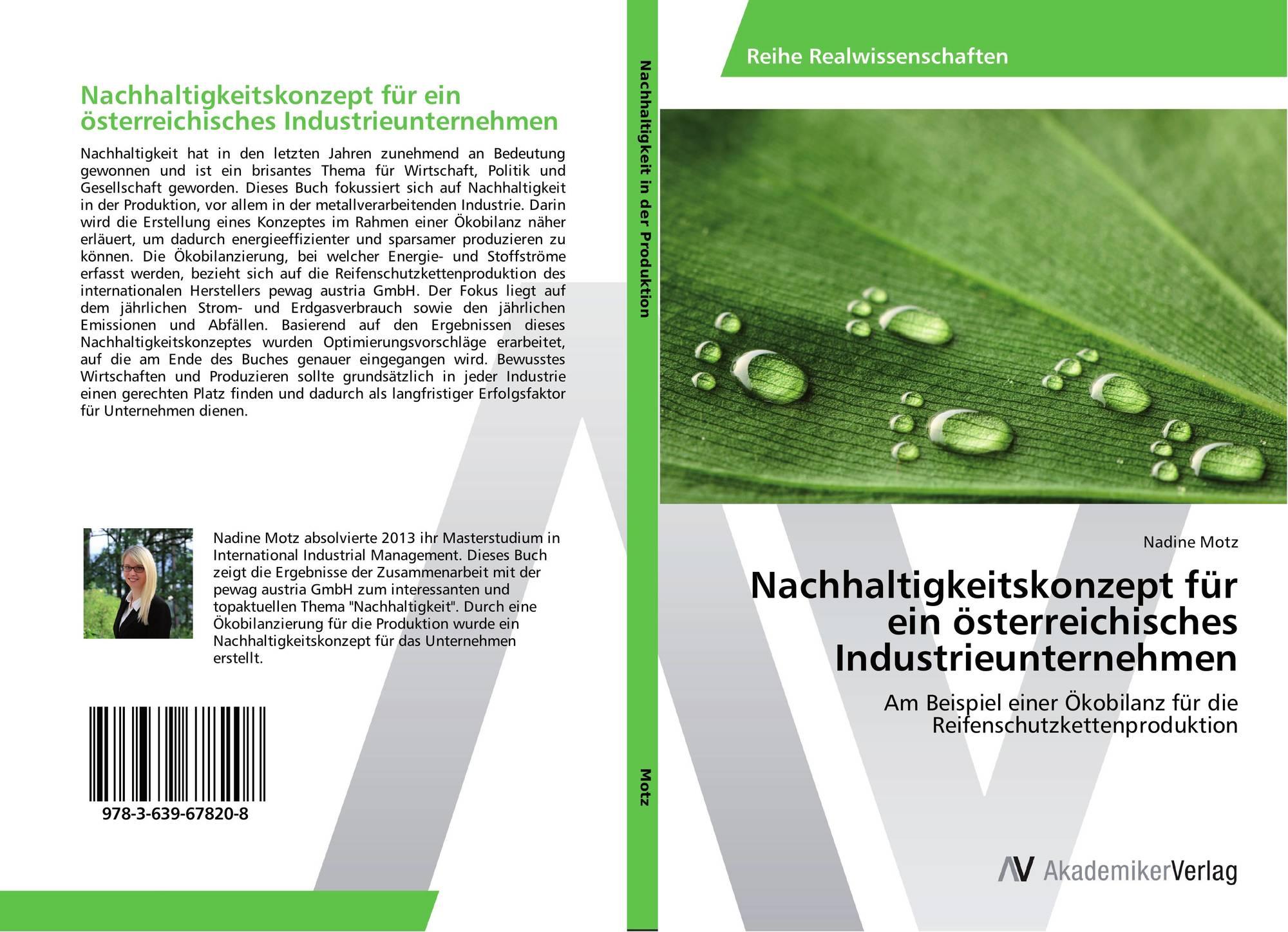 bookcover of nachhaltigkeitskonzept fr ein sterreichisches industrieunternehmen - Okobilanz Beispiel