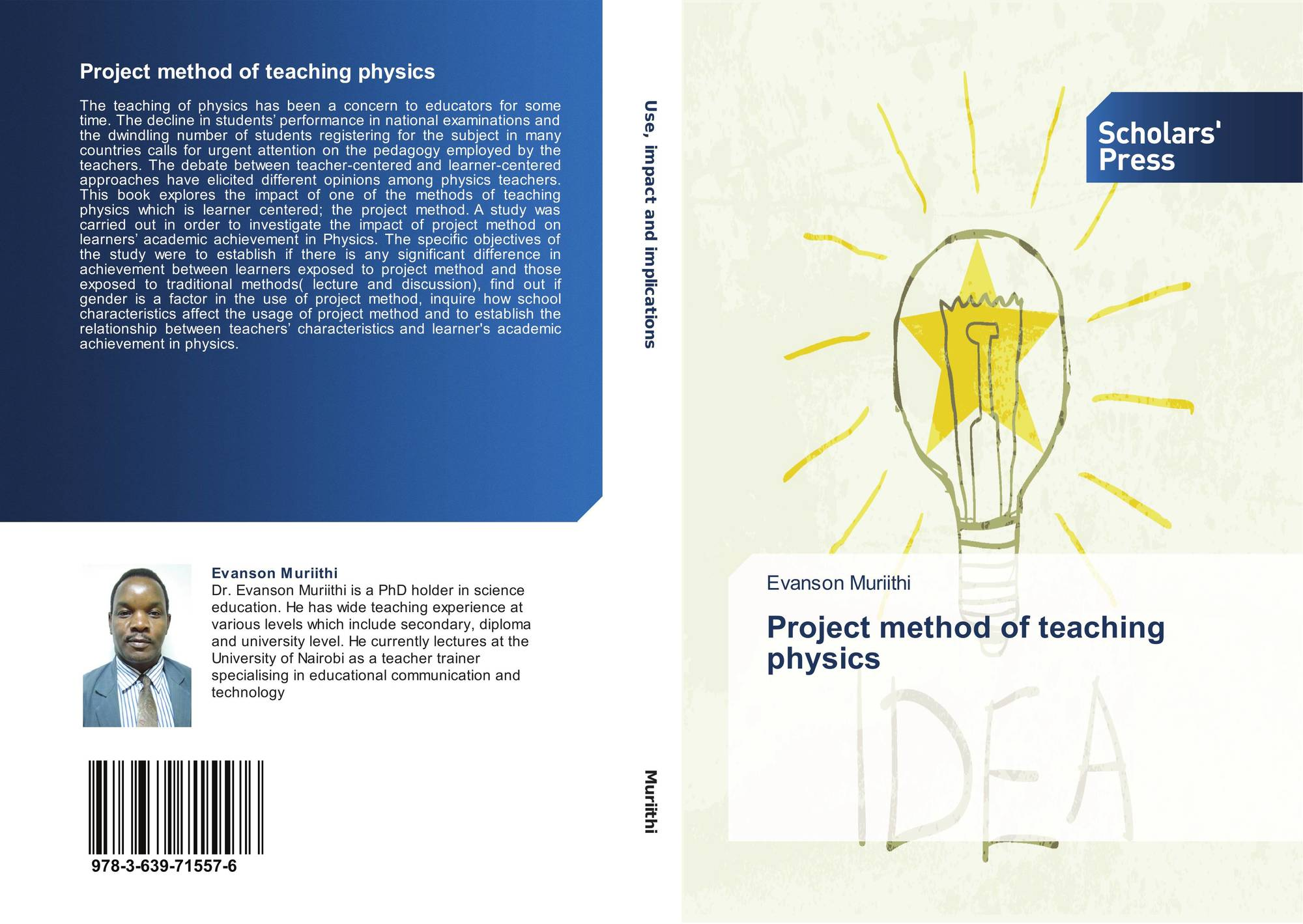 Project method of teaching physics, 978-3-639-71557-6