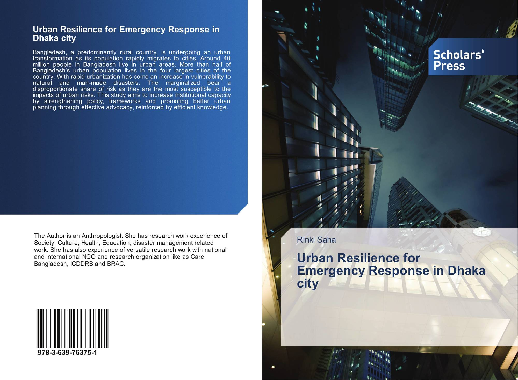 Urban Resilience for Emergency Response in Dhaka city, 978-3