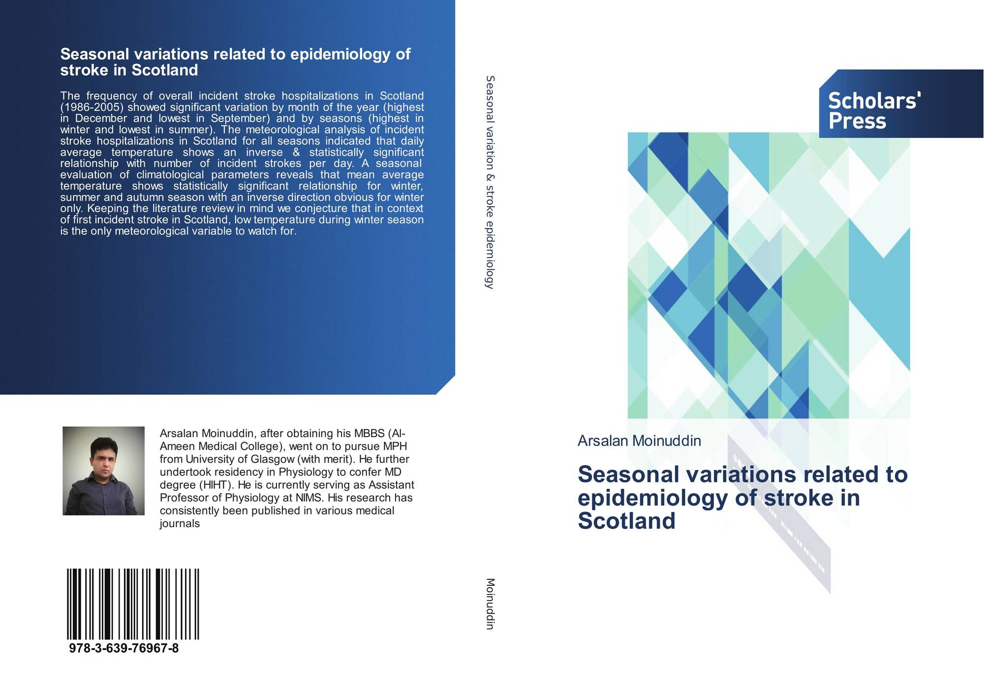 Bookcover of Seasonal variations related to epidemiology of stroke in