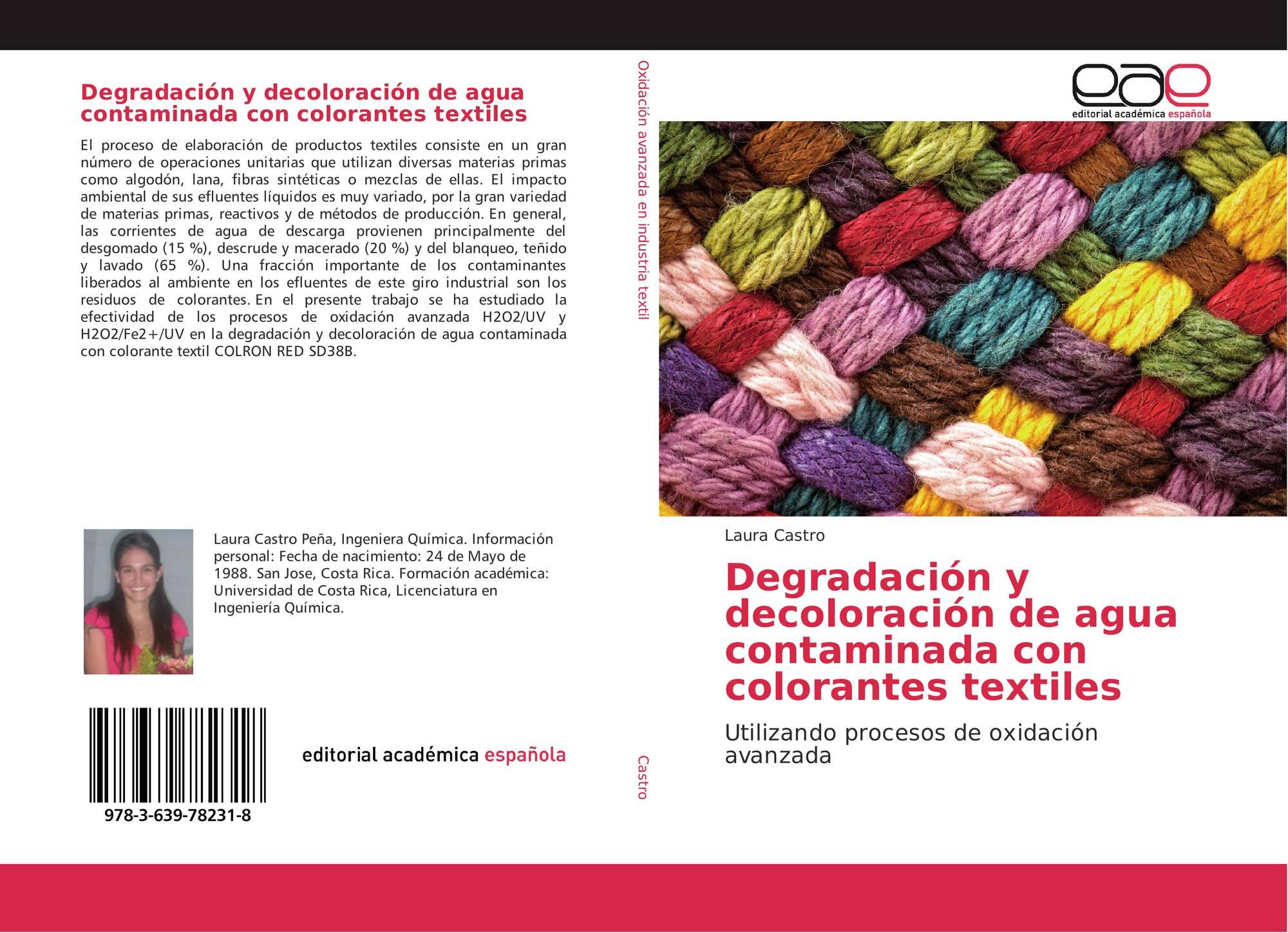 degradación y decoloración de agua contaminada con colorantes