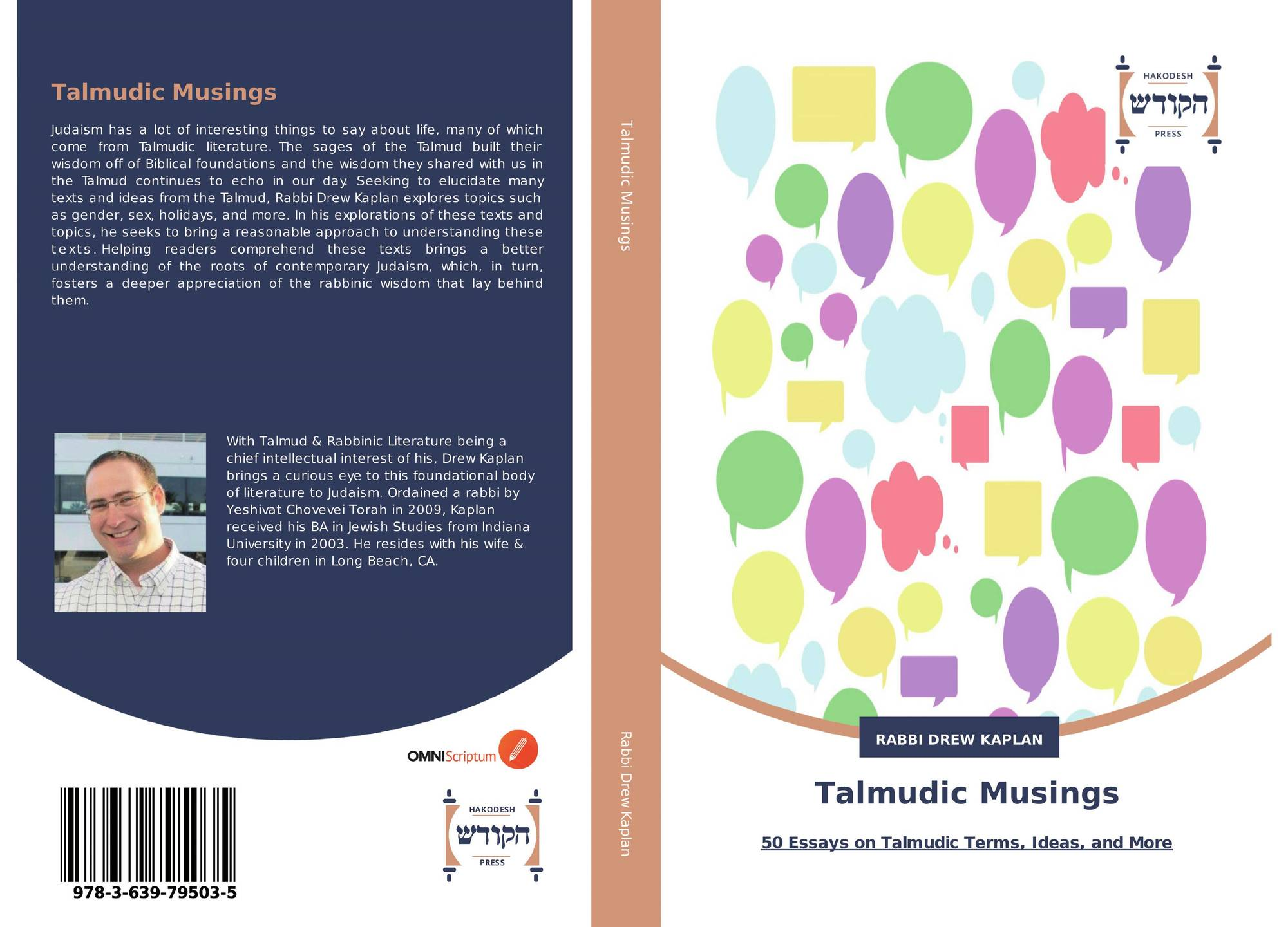 hadassa word press products bookcover of talmudic musings